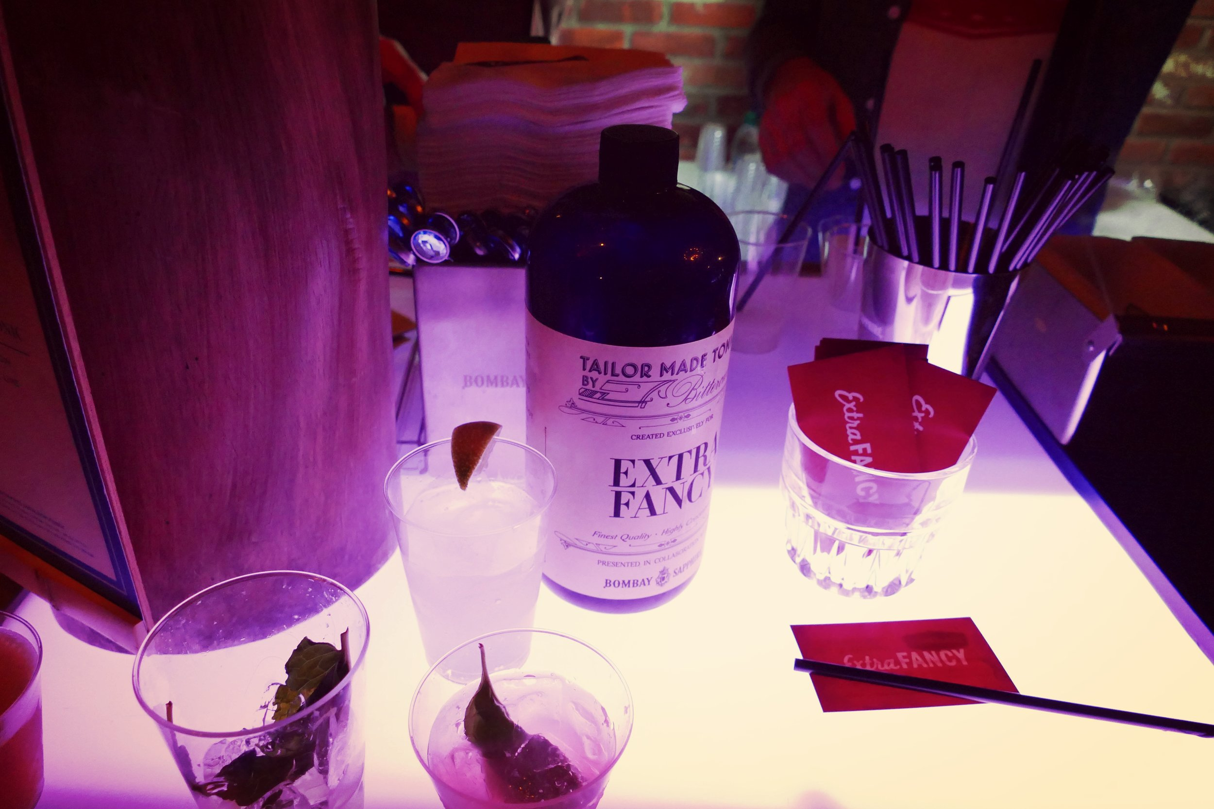 Rob Krueger, of EXTRA FANCY, and the FROZEN BOMBAY & TONIC: Bombay Sapphire® East Gin, Extra Fancy Tonic Mix, Lime
