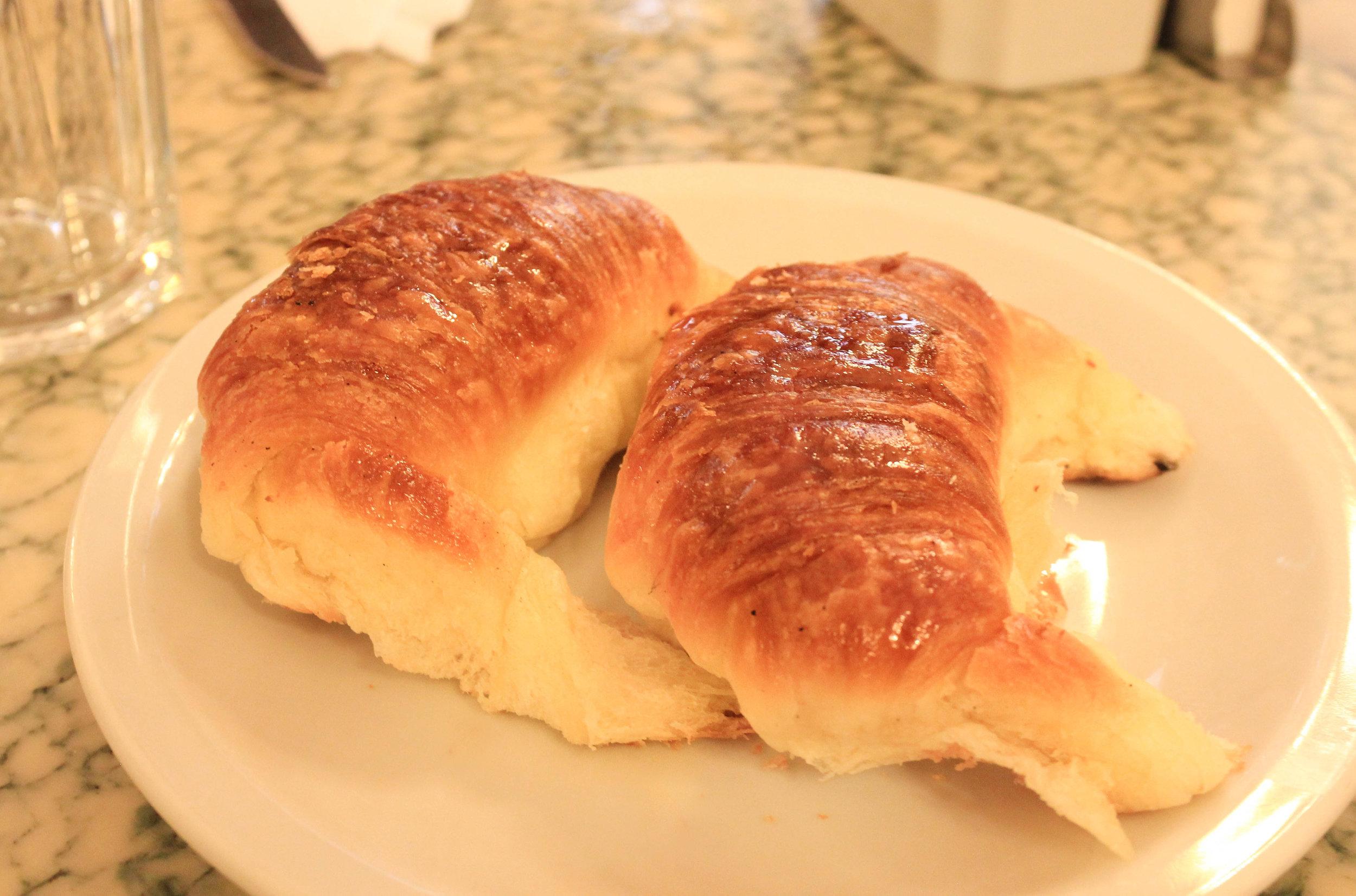 Medialunas from Cafe Tortoni