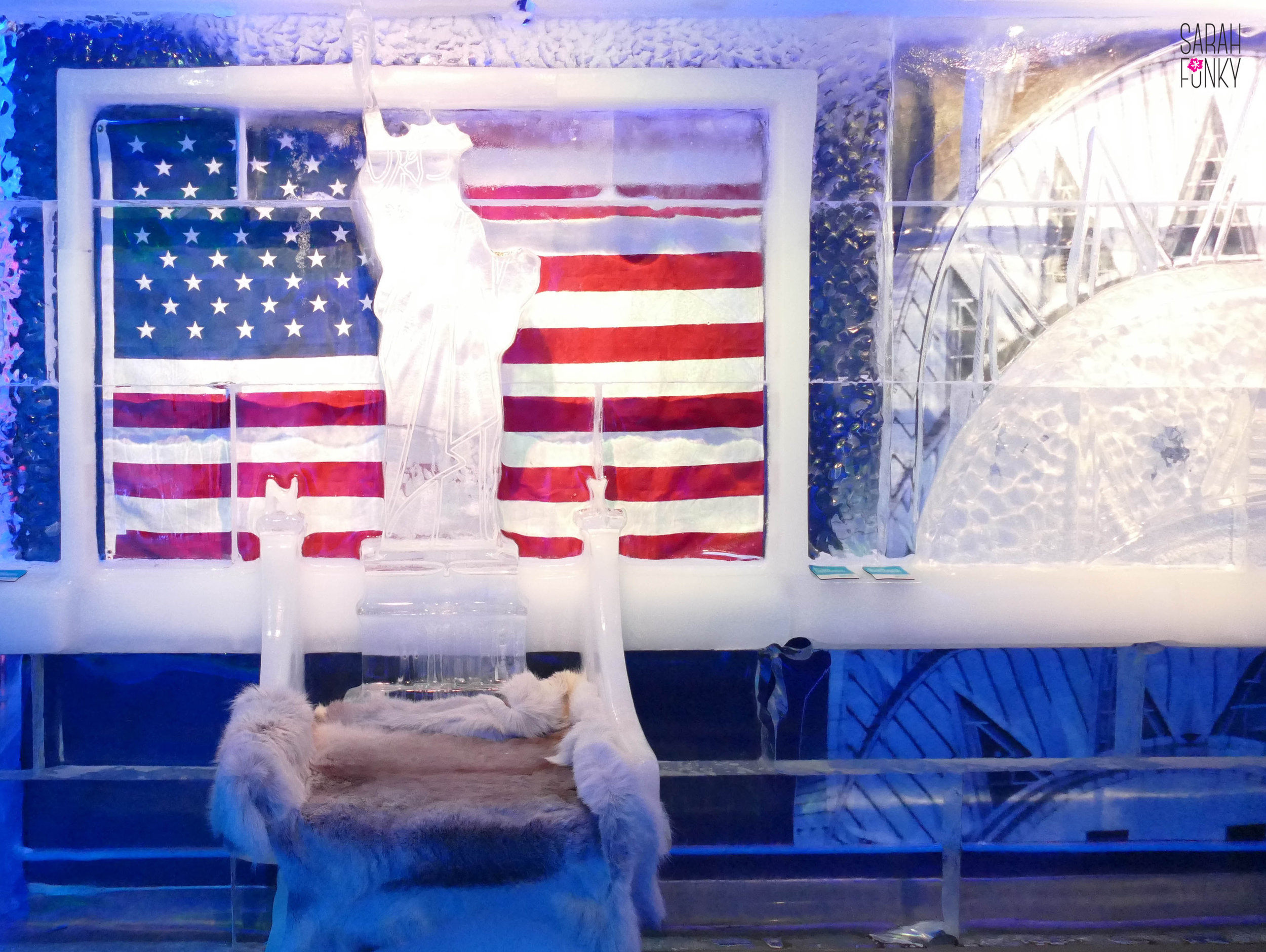 The fitting embodiment New York winters: iconic hallmarks of the city frozen in ice blocks