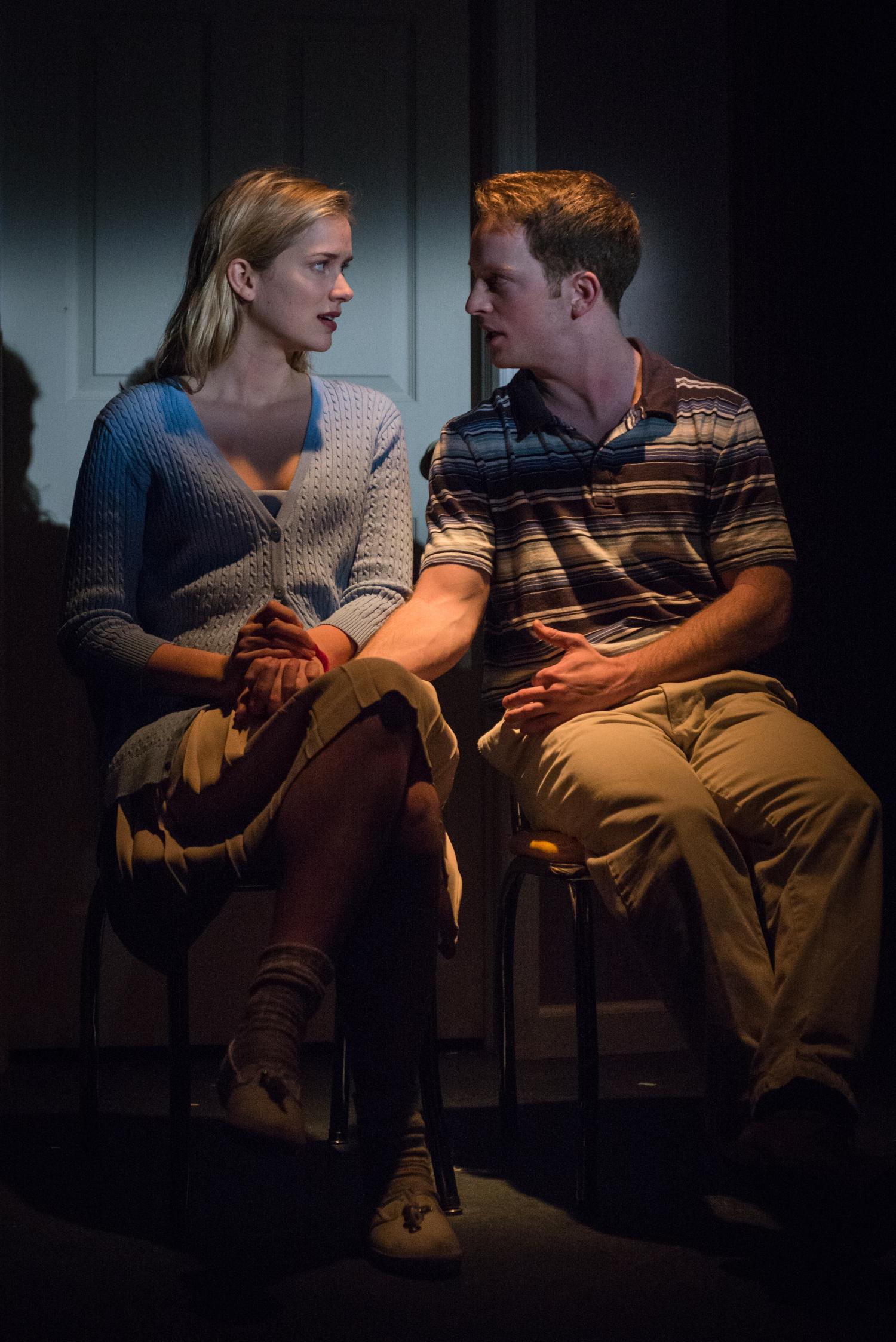 Elizabeth Lail as Hayley, Spencer Davis Milford as Matt. Photo credit: Russ Rowland