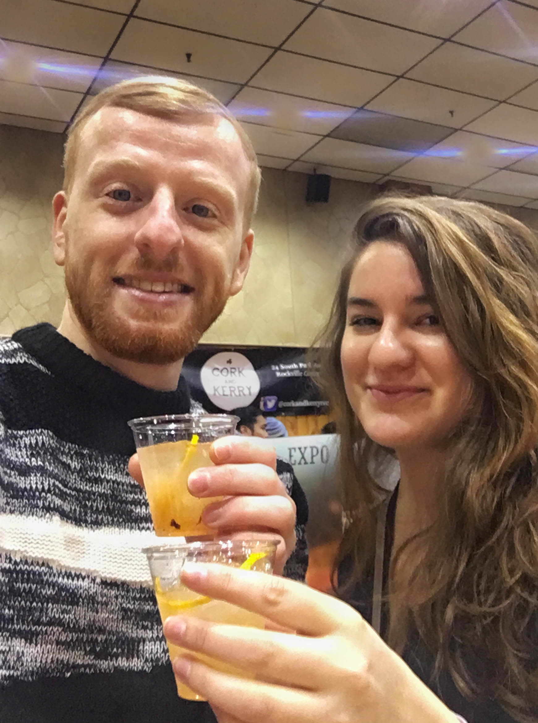 Ross and Daria enjoy cocktails at the festival.