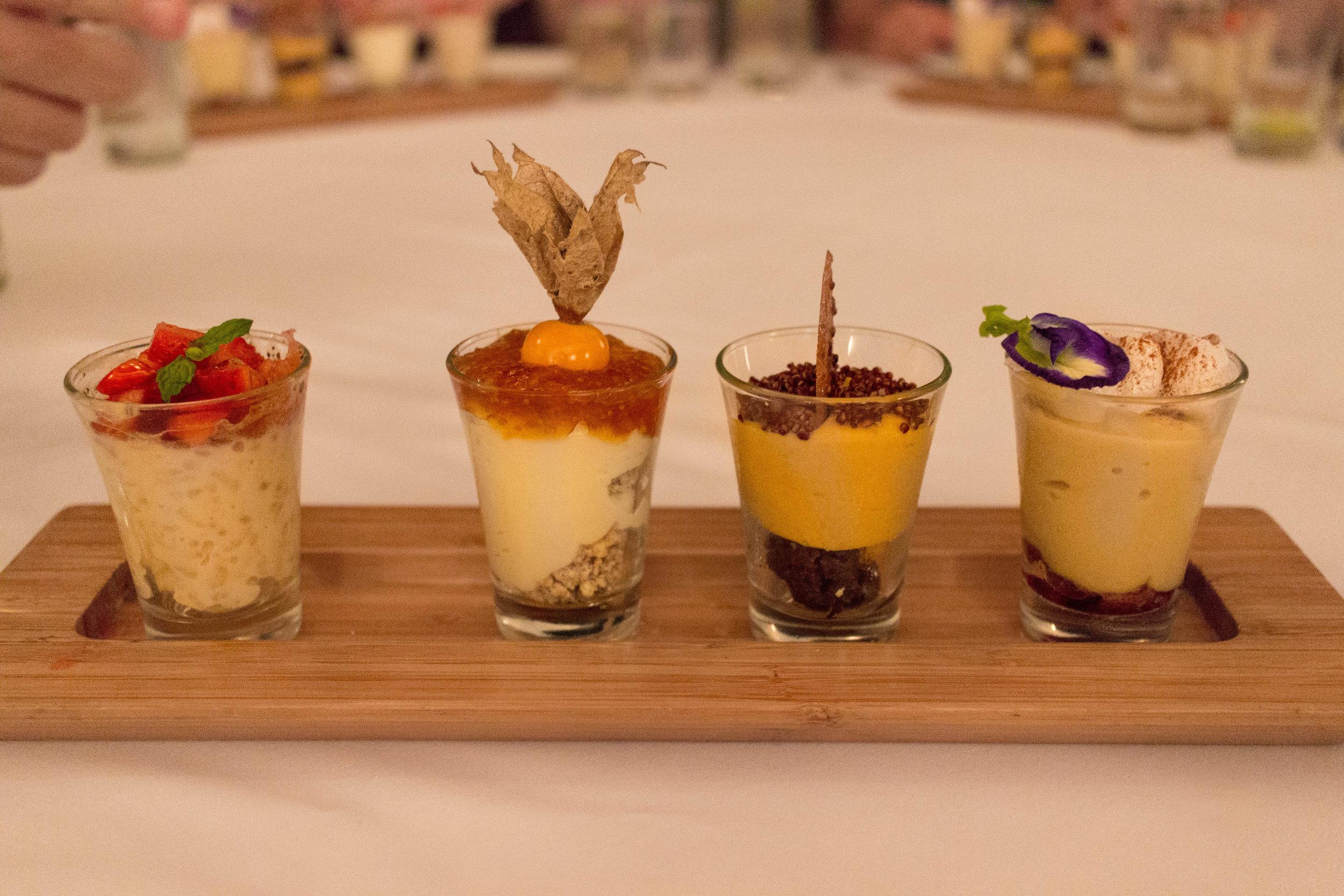 The elegant dessert.