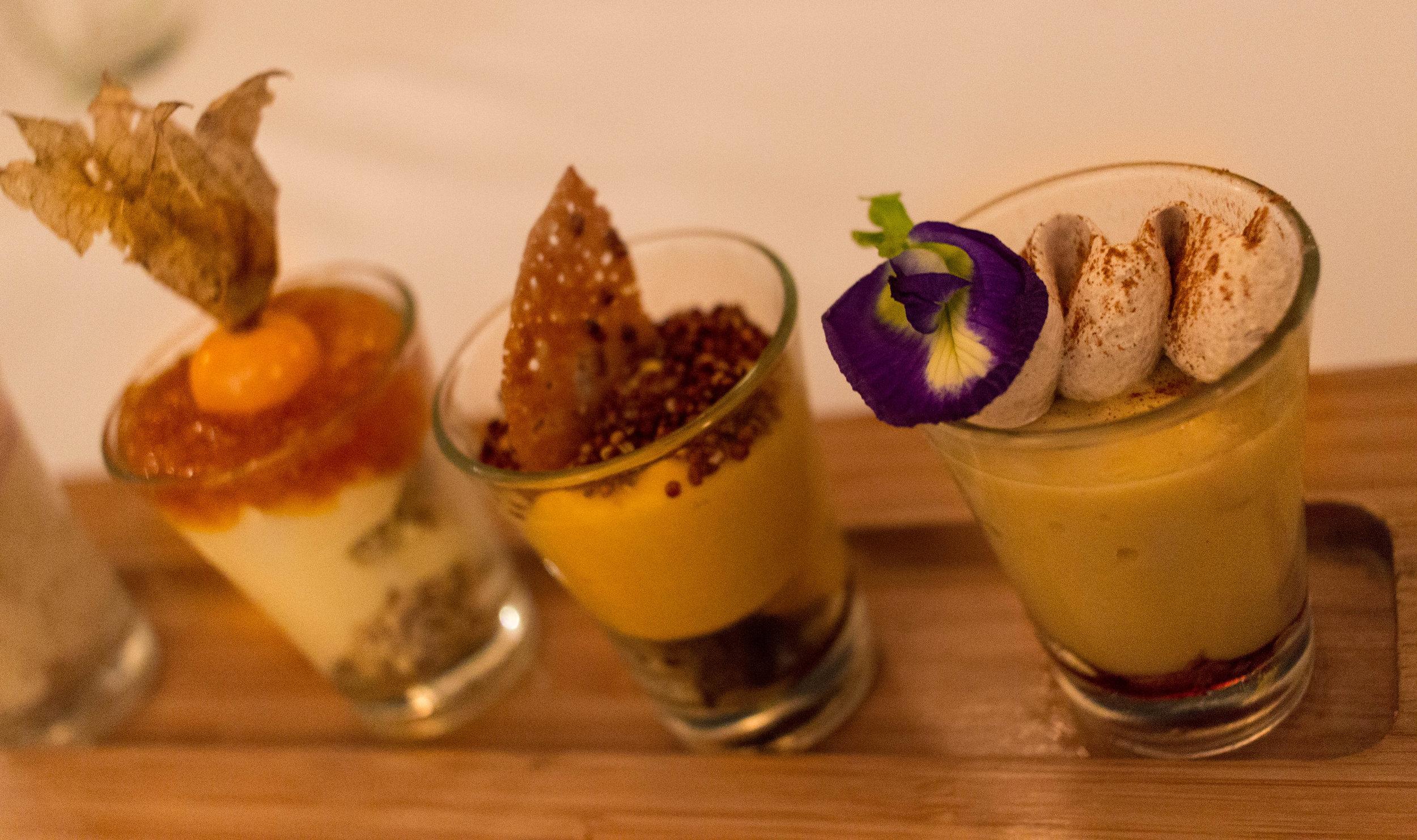 The elegant dessert at La Huaca Pucllana