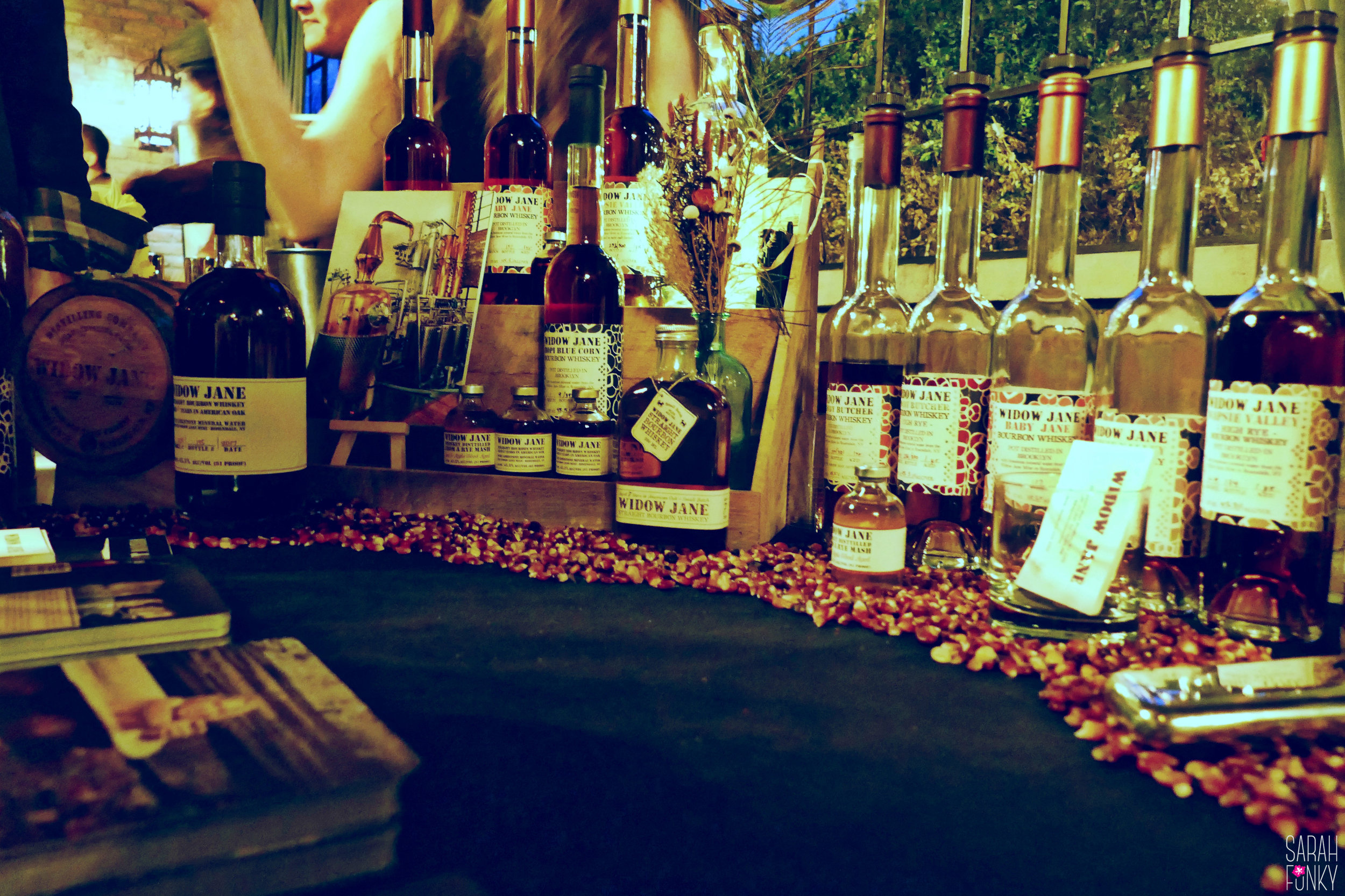 Widow Jane Heirloom Bourbon Whiskeys on display