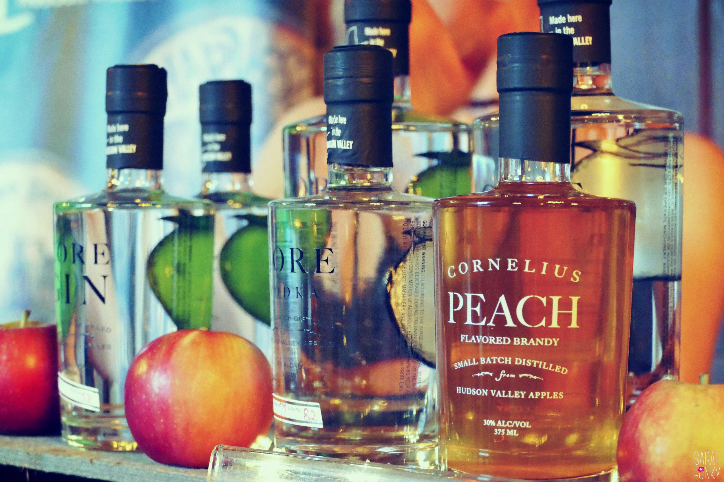 Harvest Spirits Distillery's Core Vodka and Peach Brandy