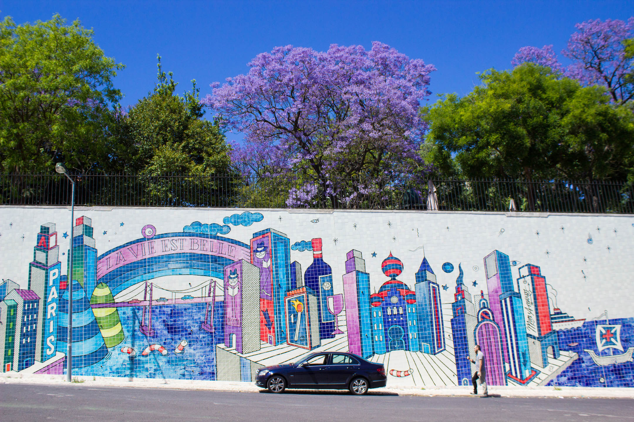 Colorful tiled street designs