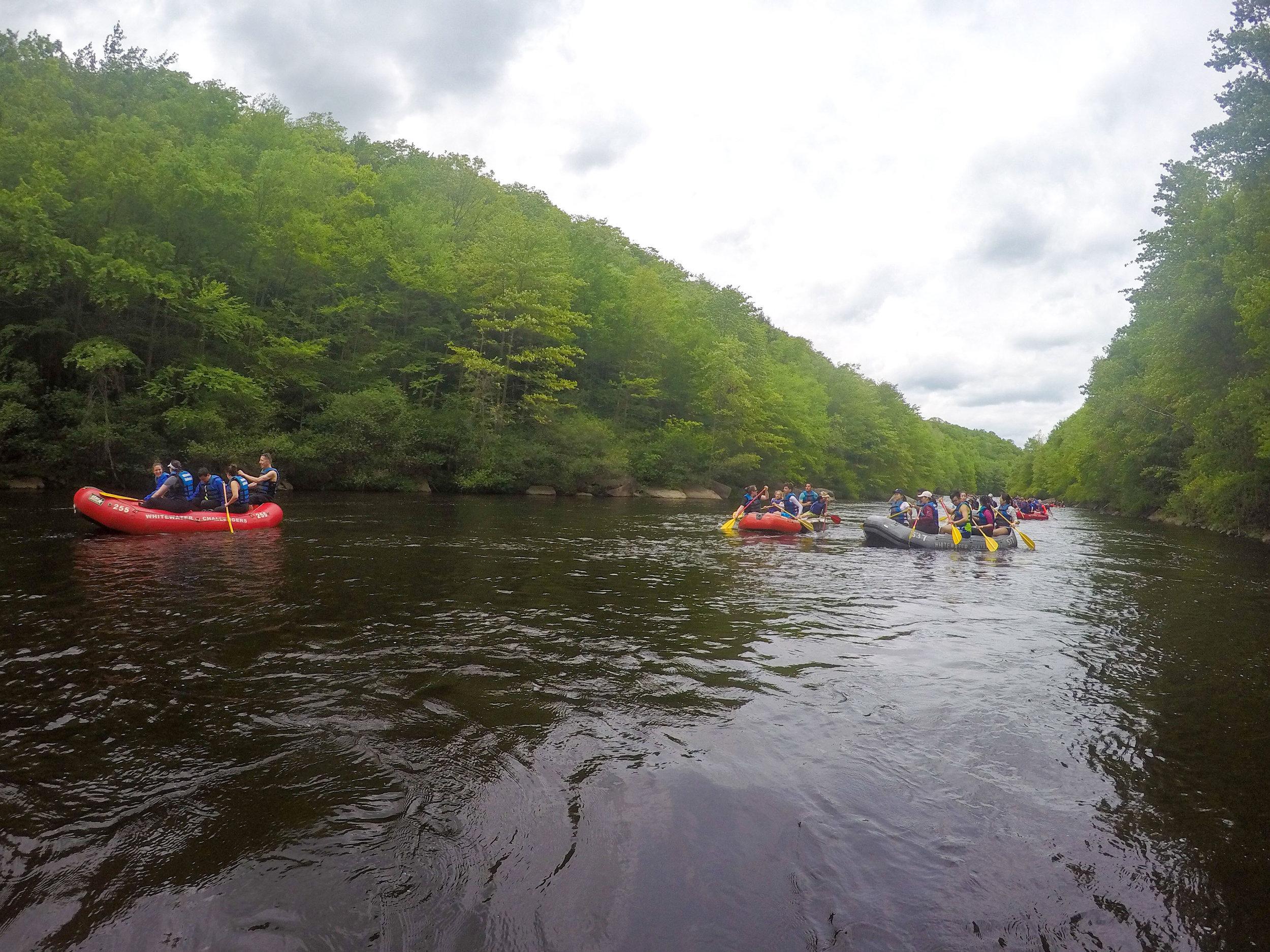 WHITE WATER RAFTING    Lehigh River, Pennsylvania