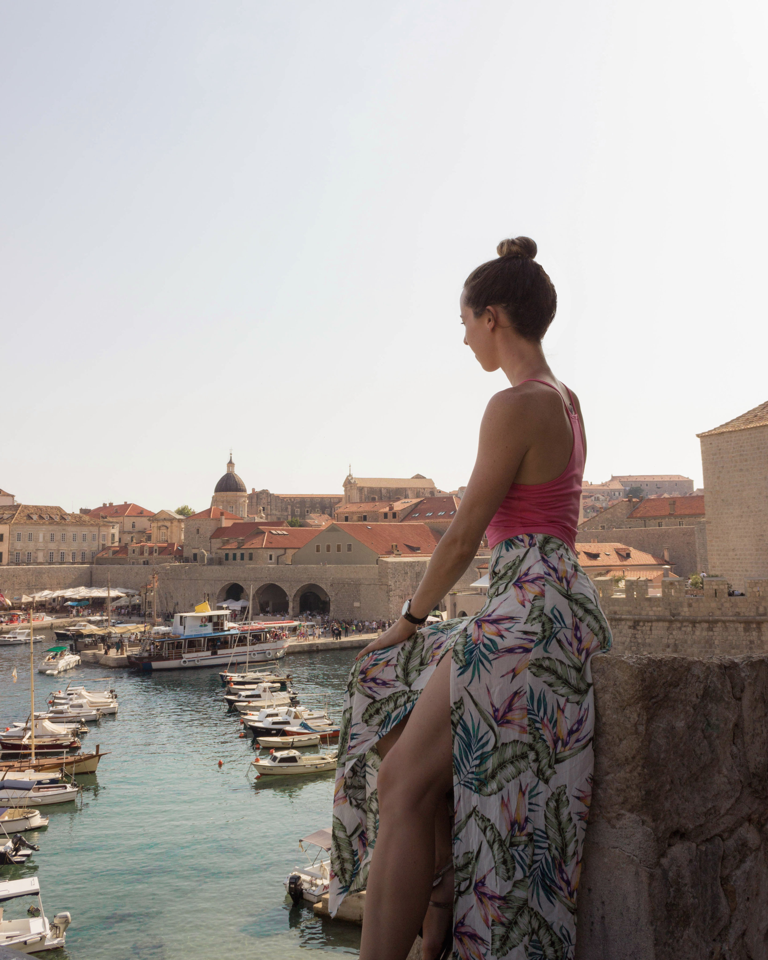 Looking out over Dubrovnik