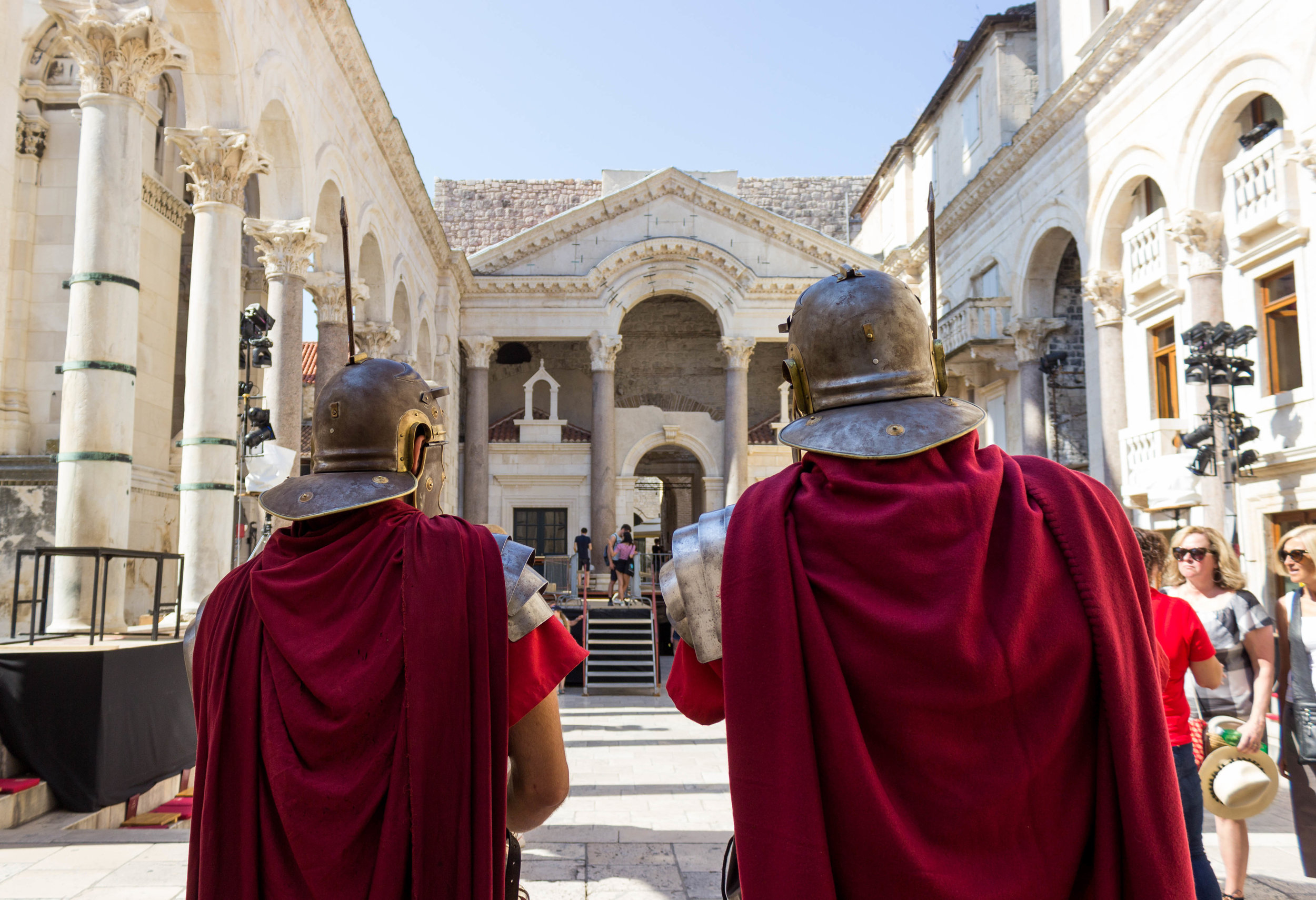 Costumed guards in Diocletian's Palace