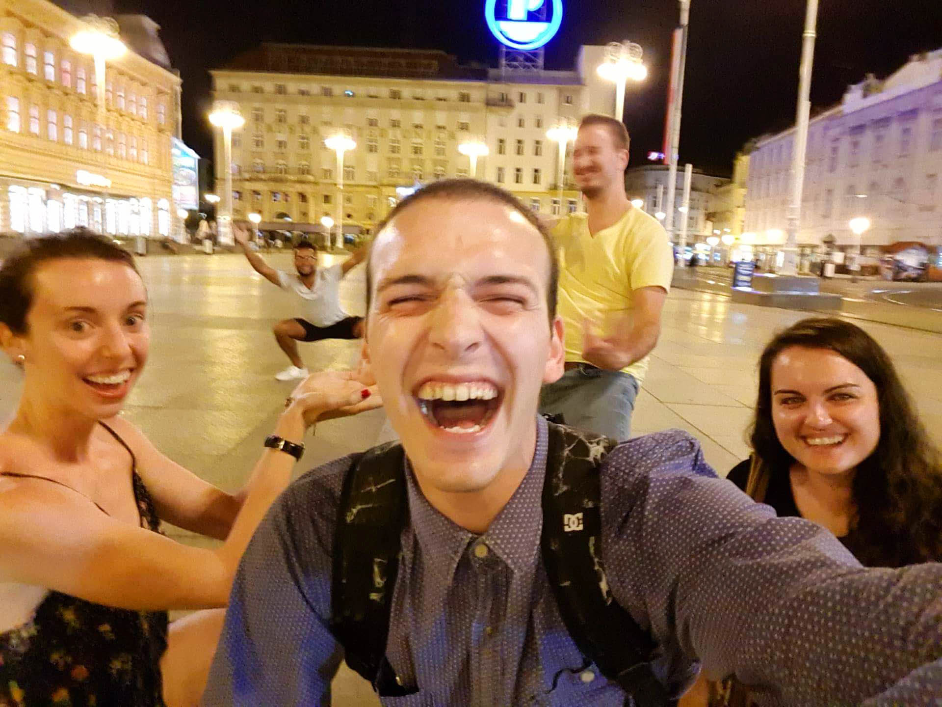 Our first night out with Pavle