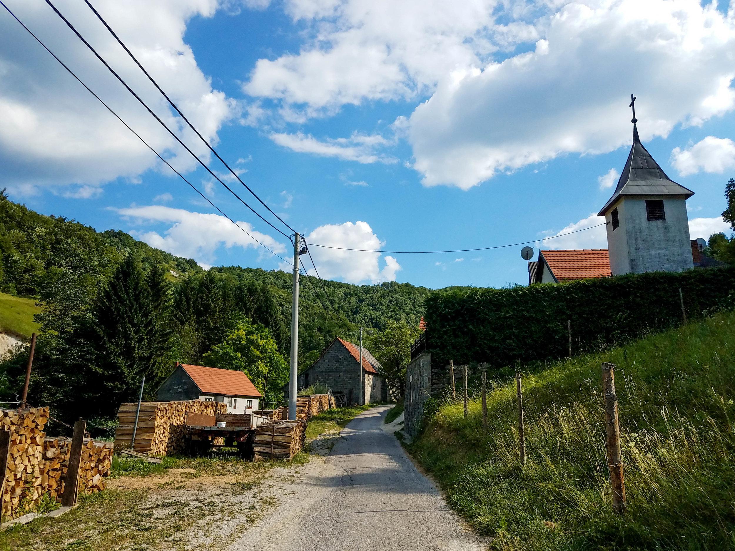Small farming village