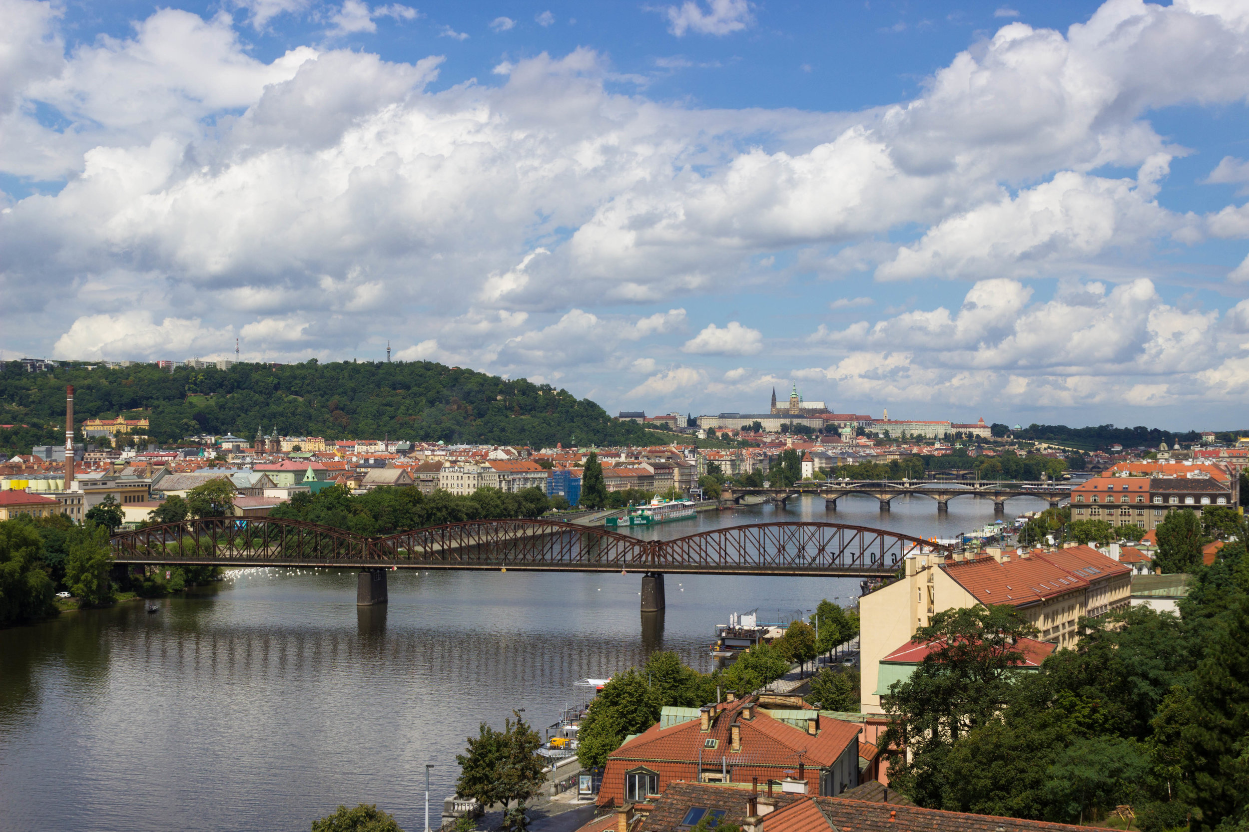 View of Vltava River from Vysehrad
