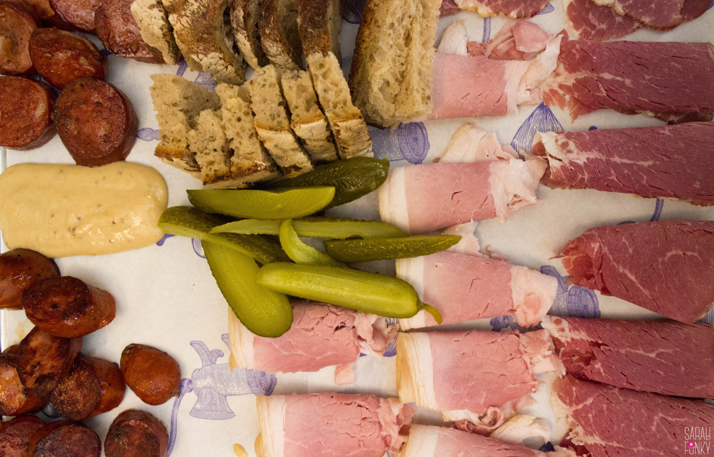 Prague ham and Prestice sausage at Nase Maso