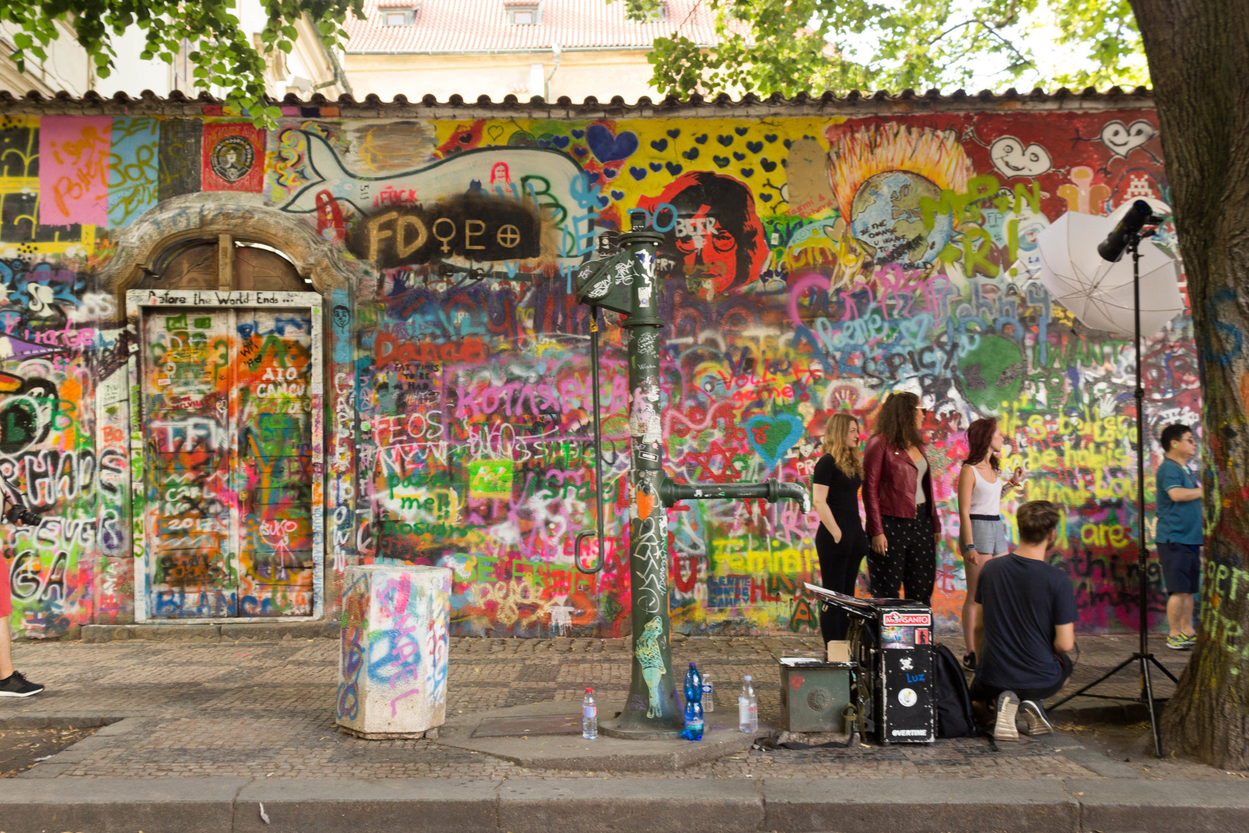 The John Lennon Wall in Prague