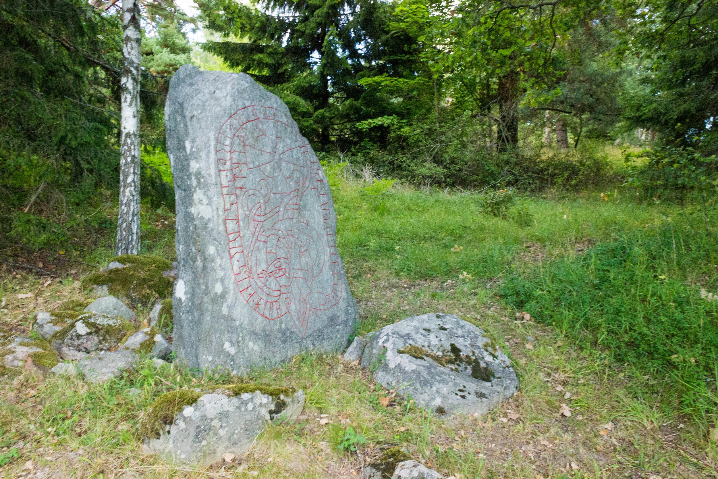 A viking rune stone