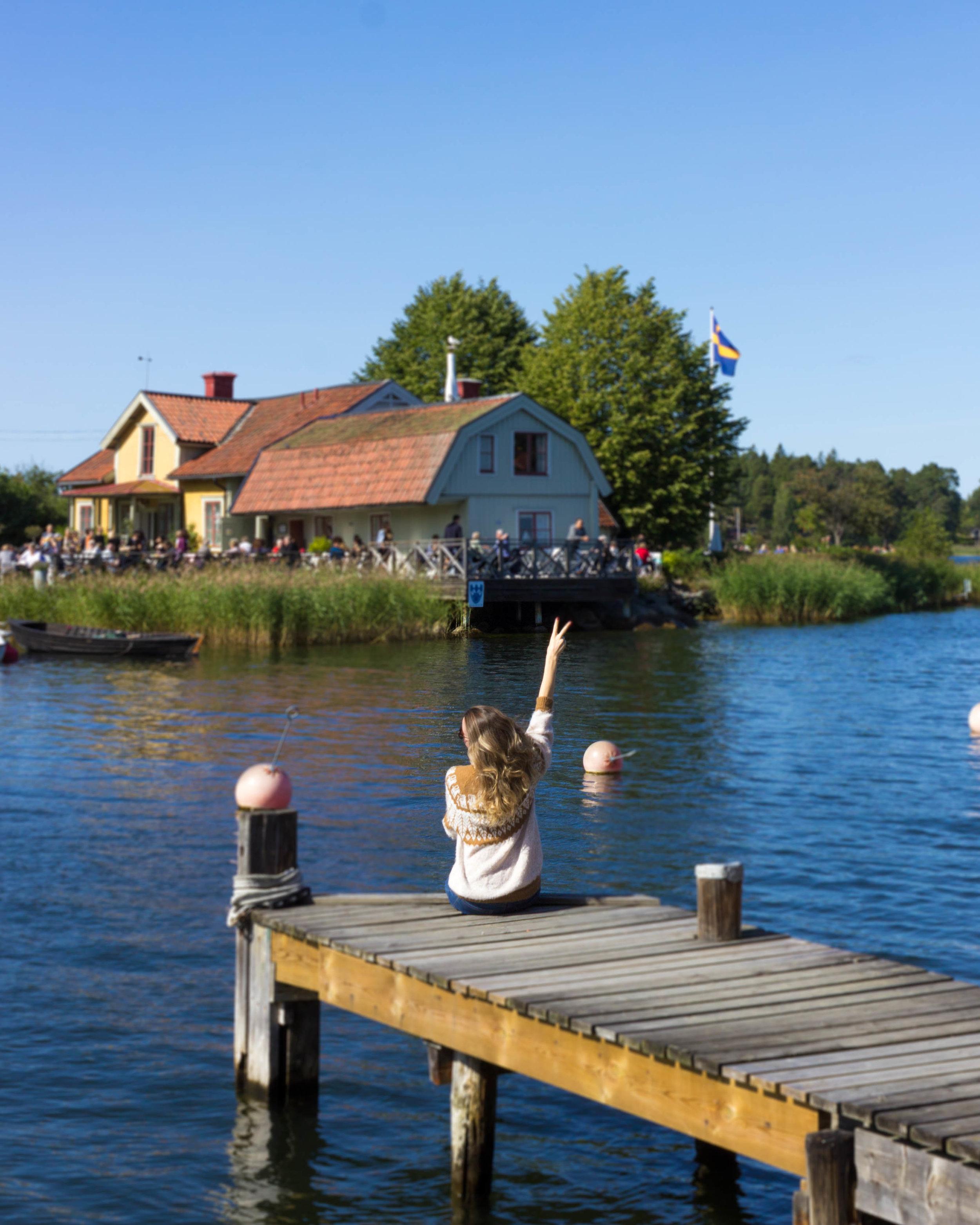 Enjoying the day on Vaxholm island