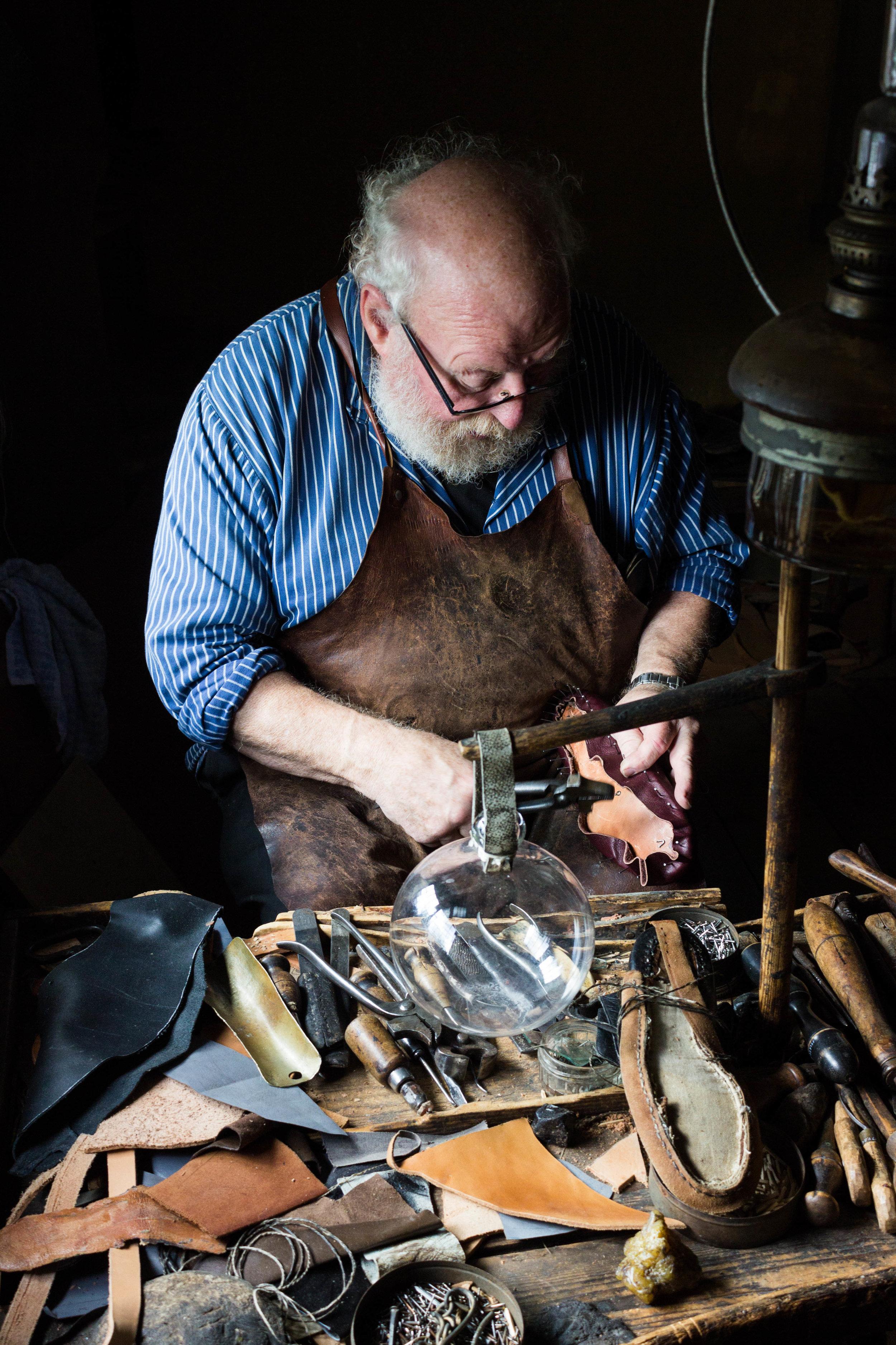 A shoemaker at Skansen