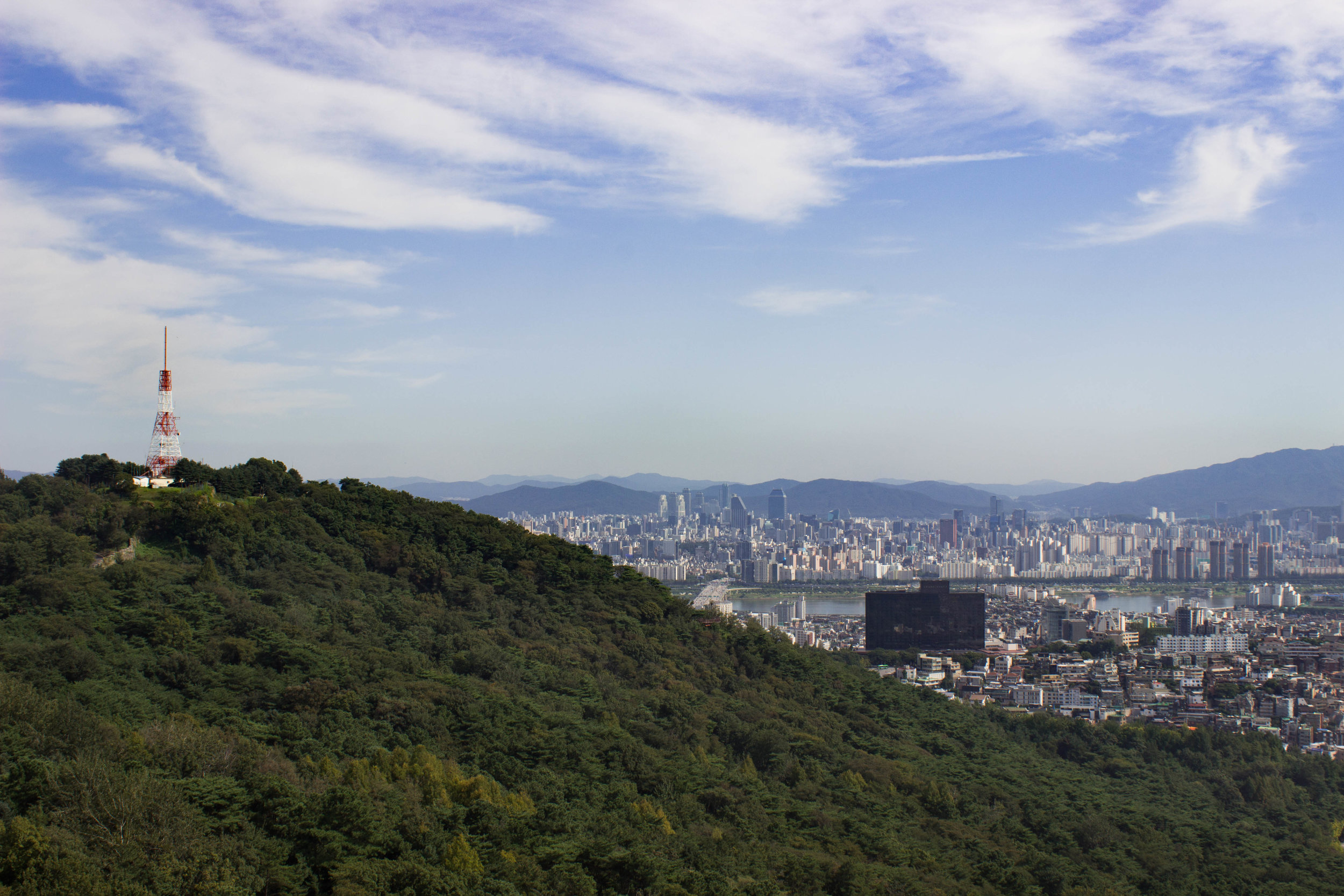 The view of Seoul from Namsan Seoul Tower