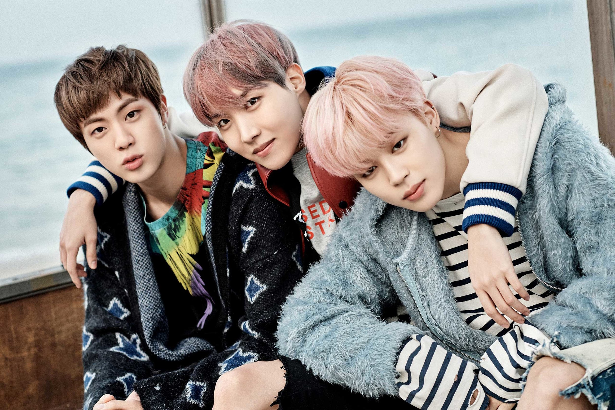 Members of BTS - A K-pop boy band