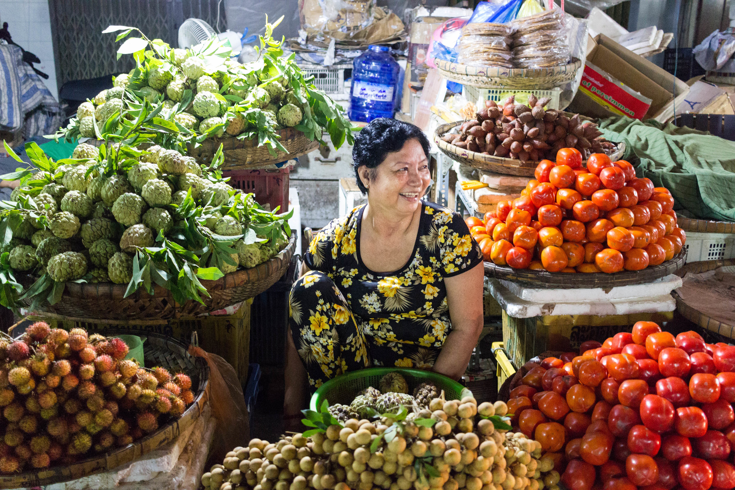 The night market in Châu Đốc, An Giang, Vietnam