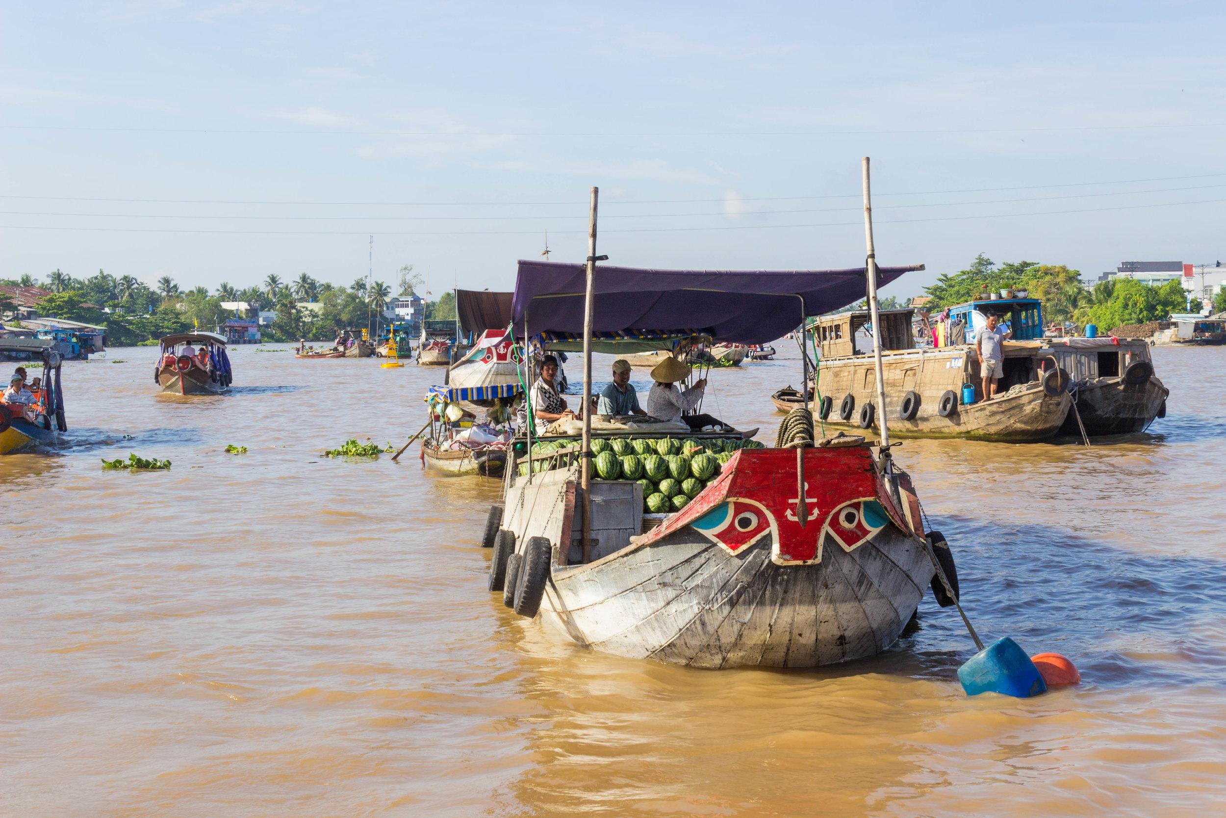The Cai Rang floating market