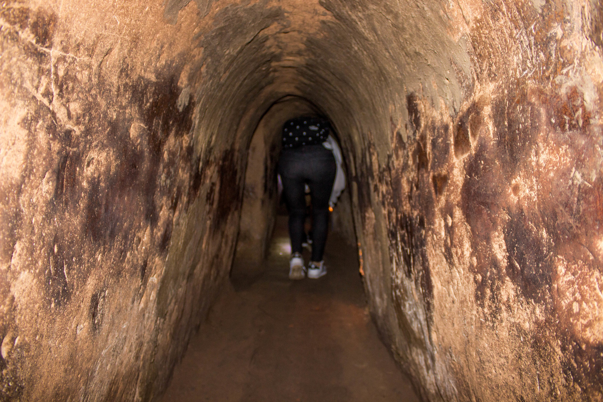Tunnels for visitors are 40% larger than they were when they were used during the war