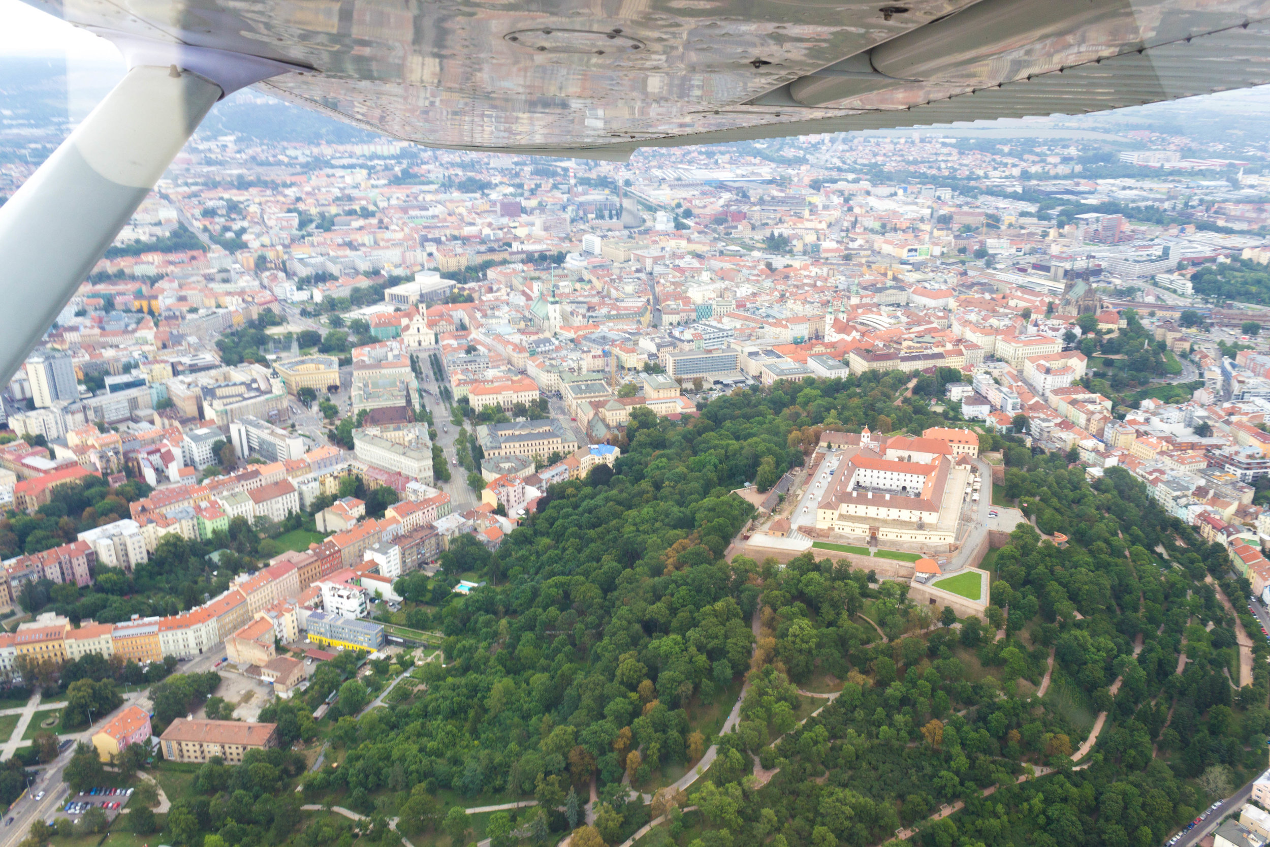 Flying over Brno with Active Czech