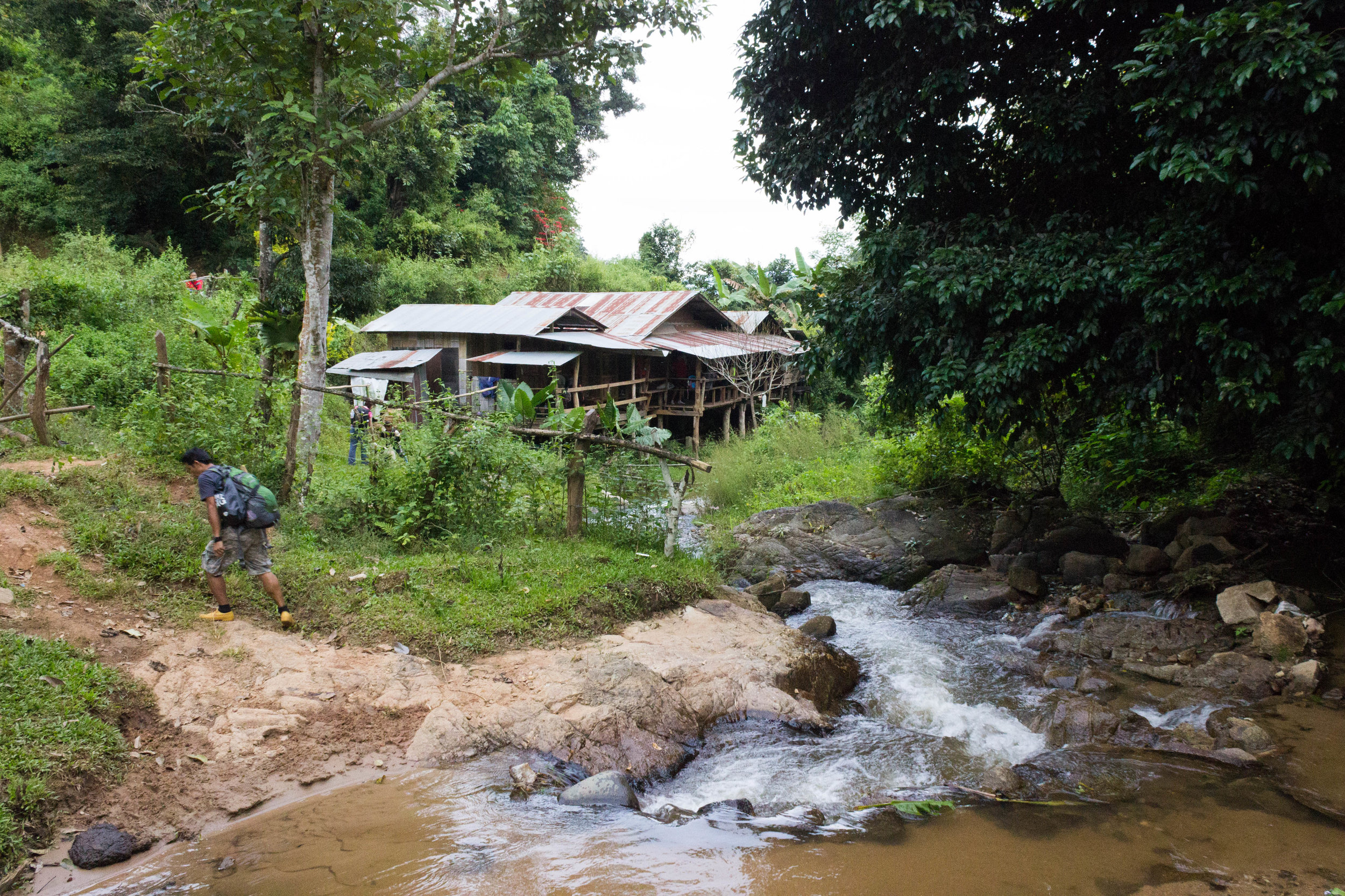 Our home for the night in the Karen village