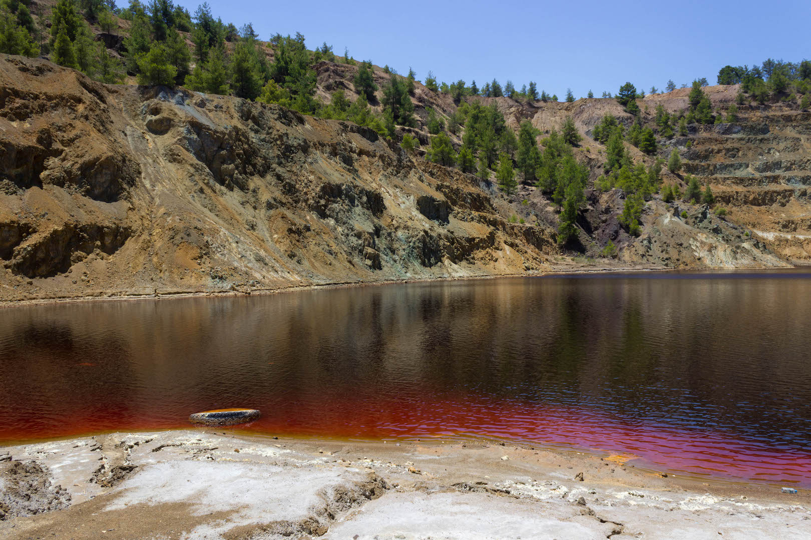 Cyprus's secret red lake -  watch video about it here.