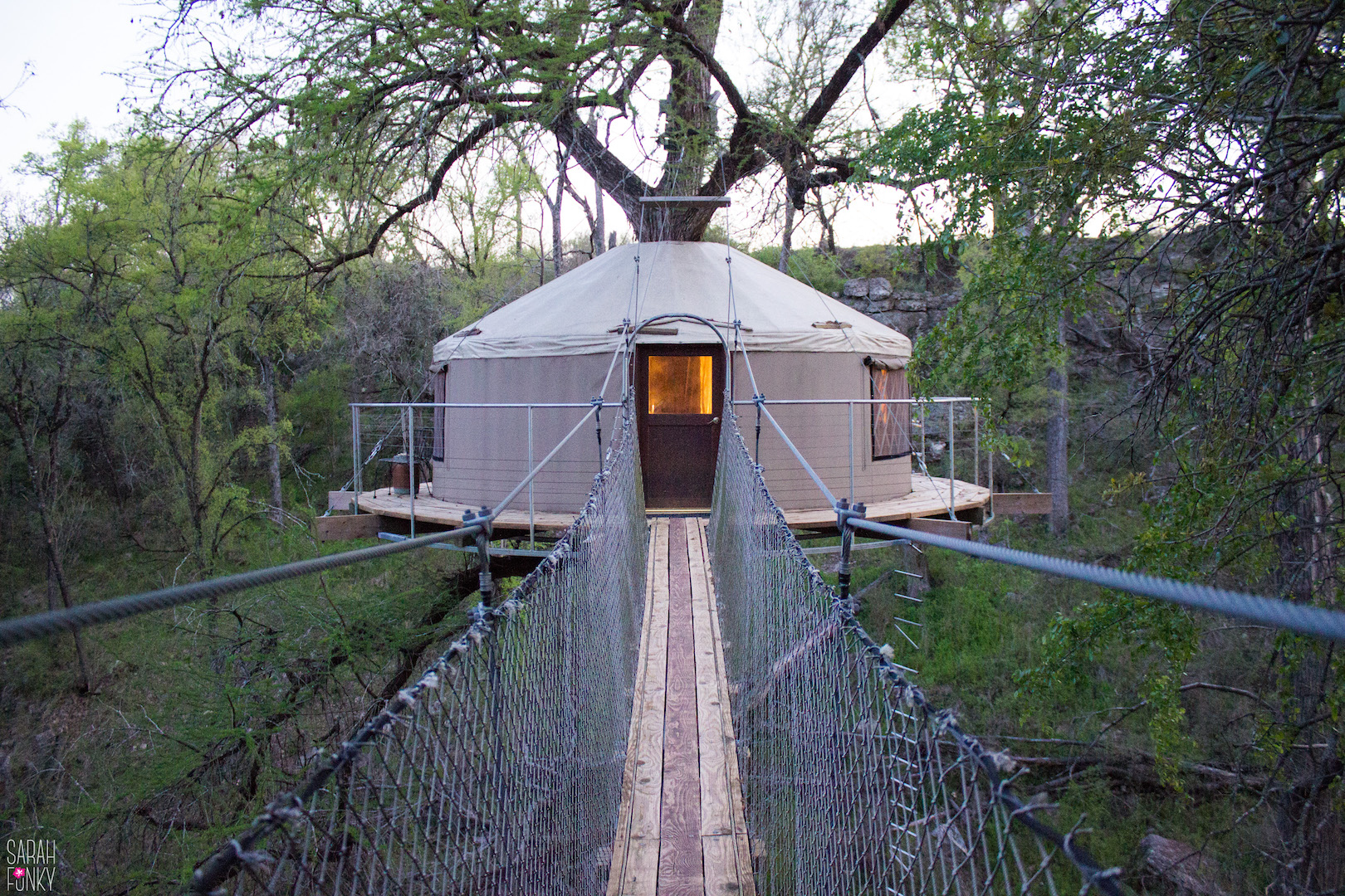 The sky yurt at Cypress Valley