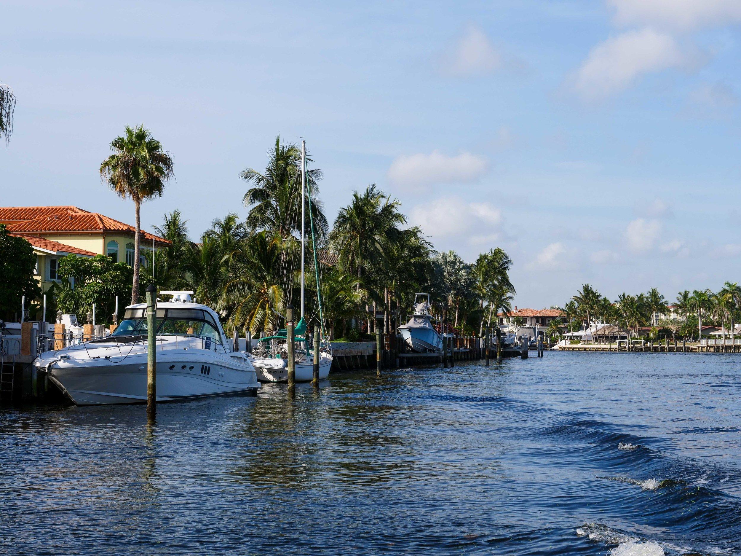 Yacht's docked along Millionaire's Row