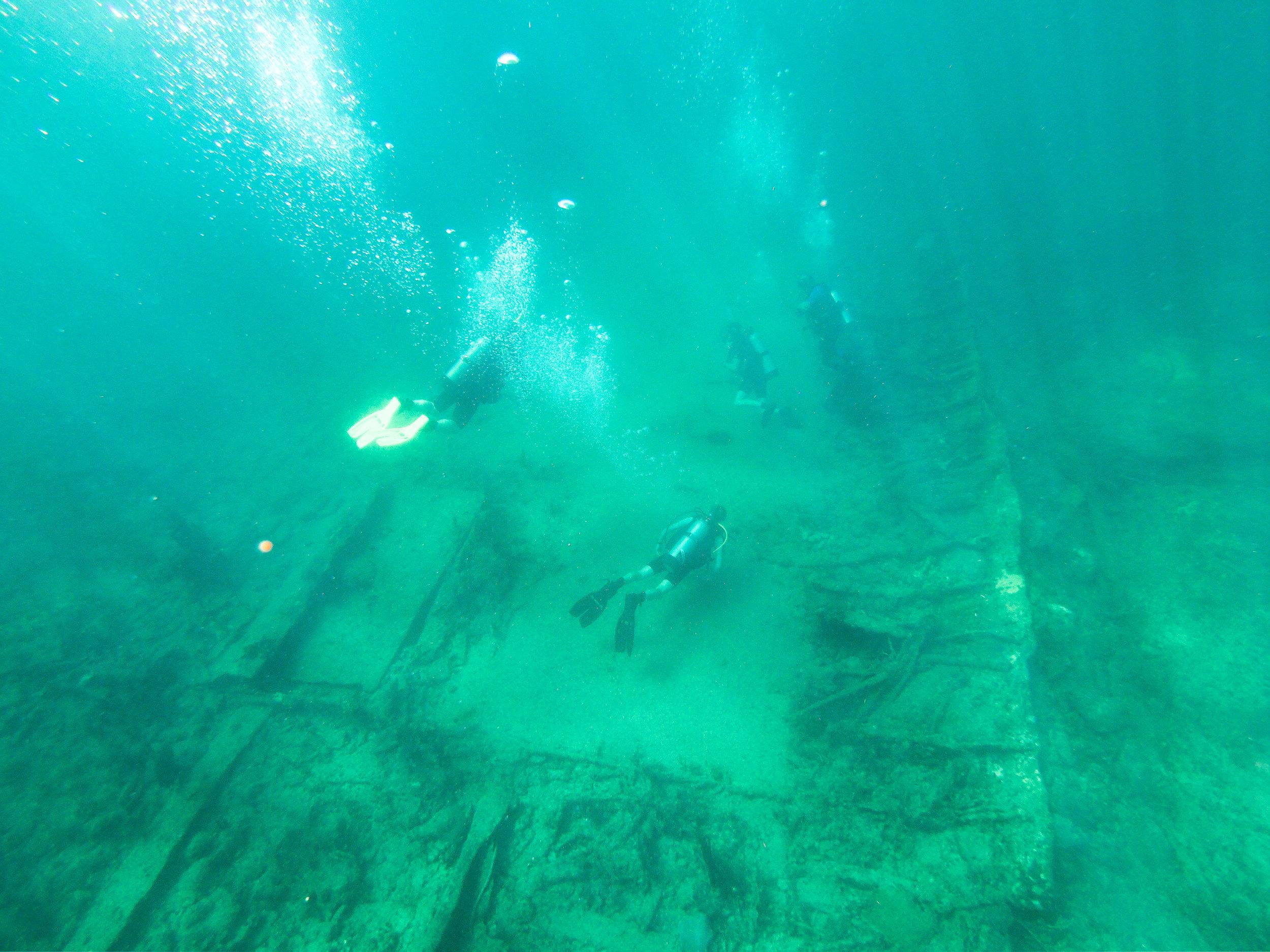 The SS Copenhagen wreck.