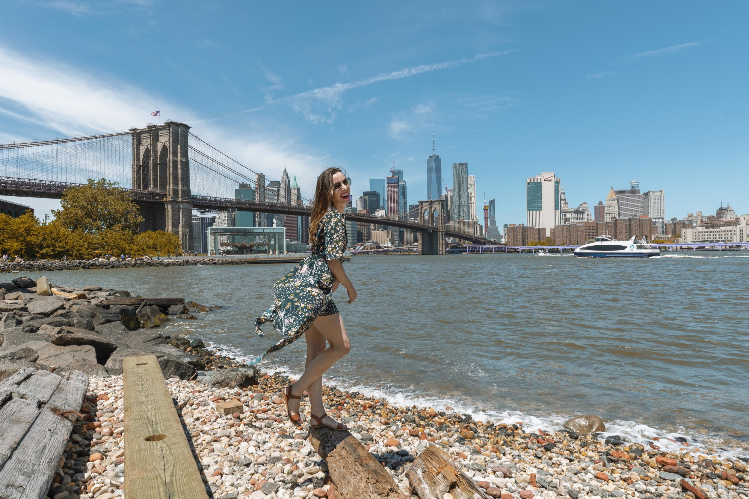 The view from DUMBO's Pebble Beach. Photo by  Francheska Fotography