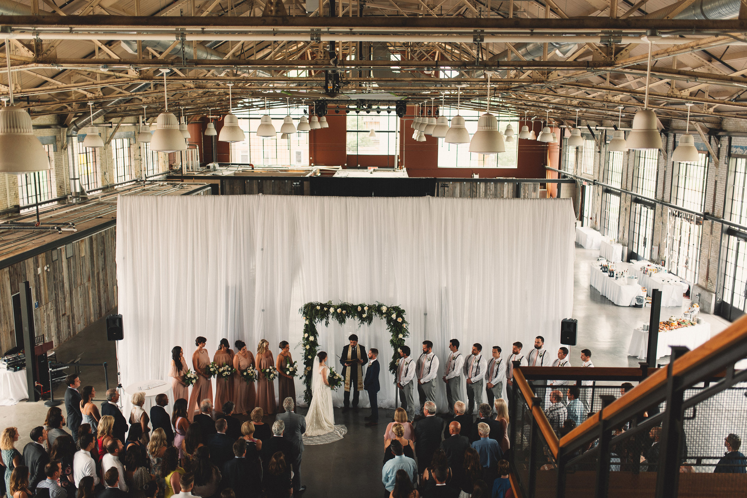 Toast Events Horticulture Building Wedding