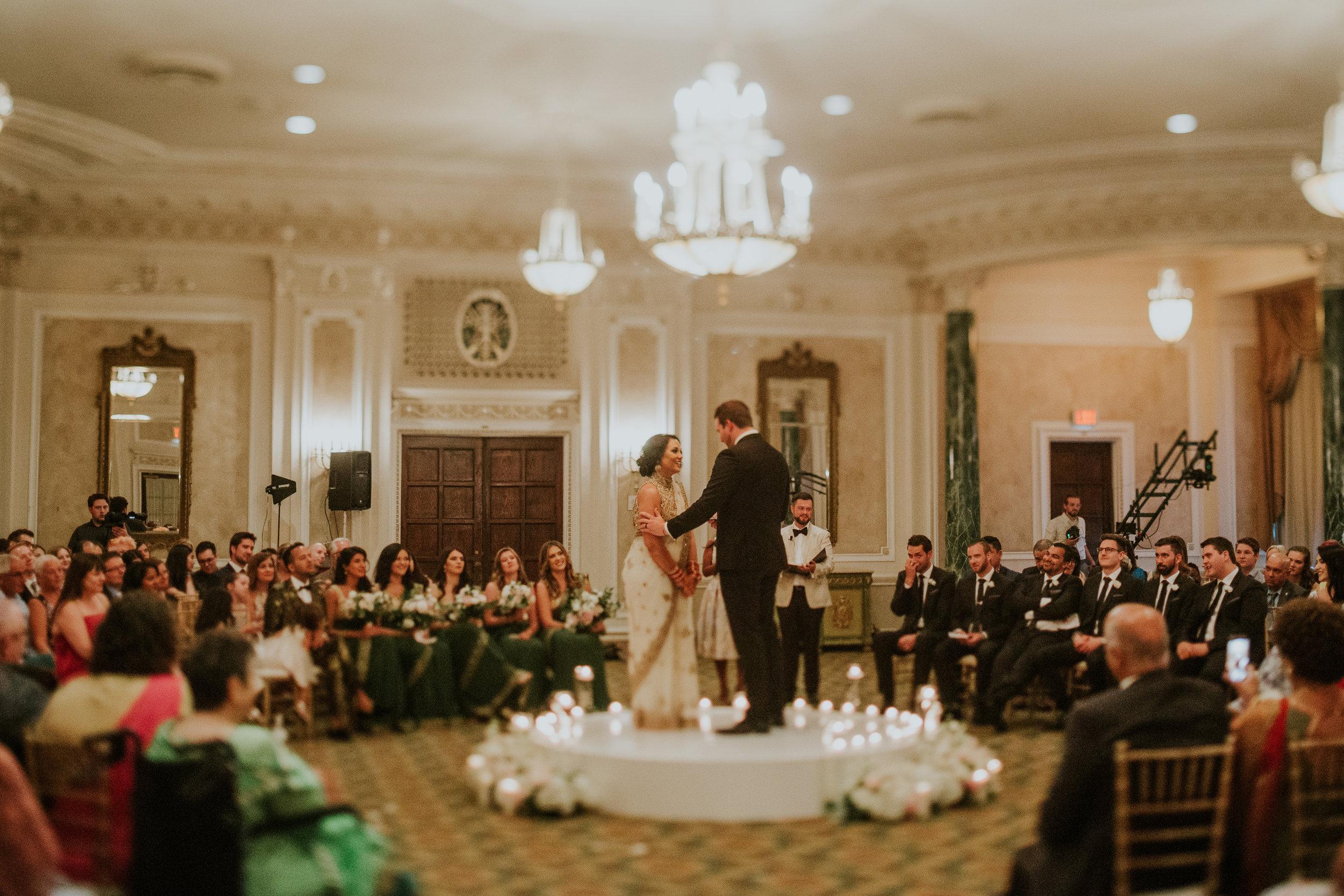 Komal Minhas Wedding Chateau Laurier, Toast Events, ceremony