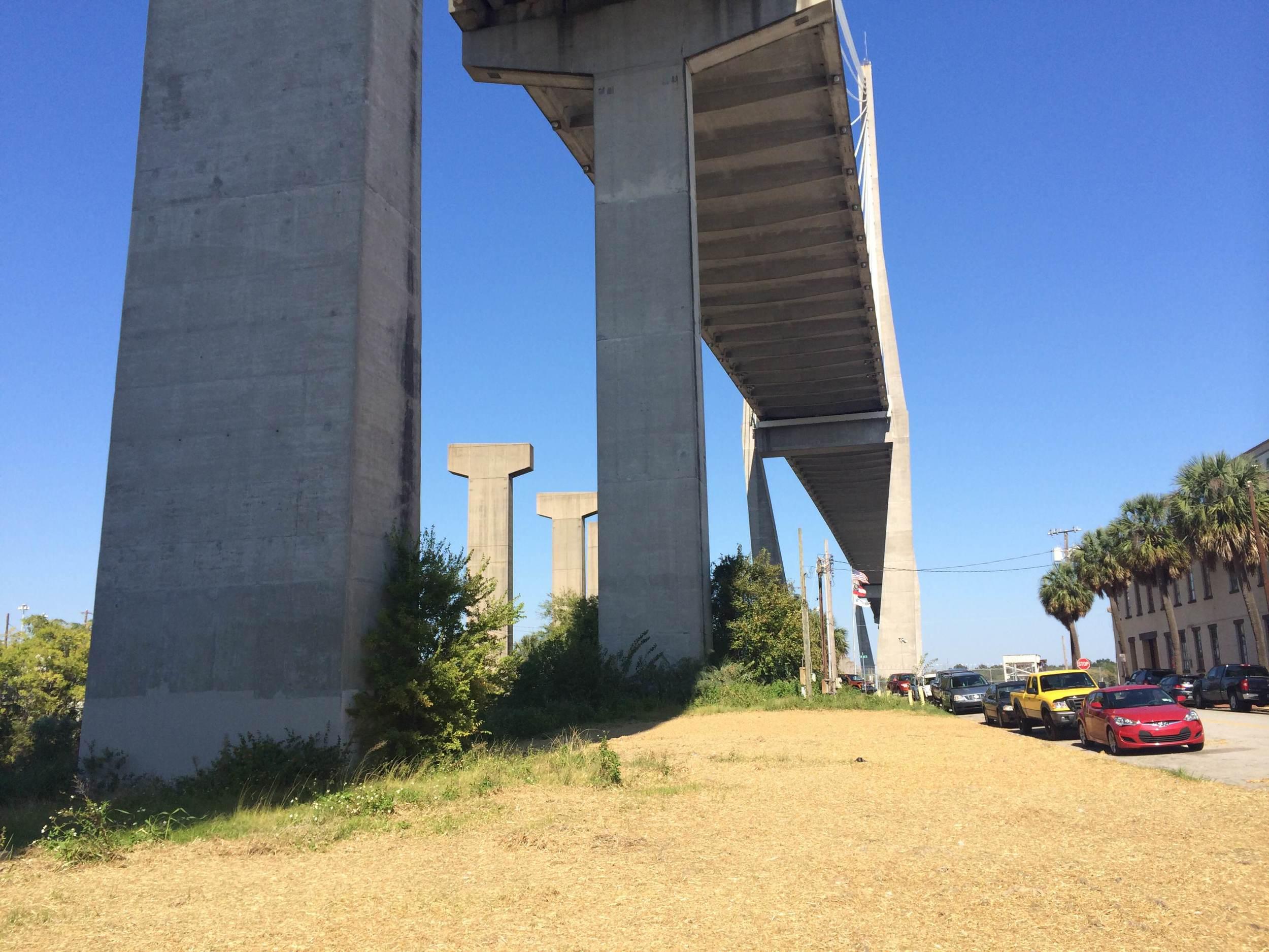 Boxport site beneath Savannah's Talmadge Bridge.