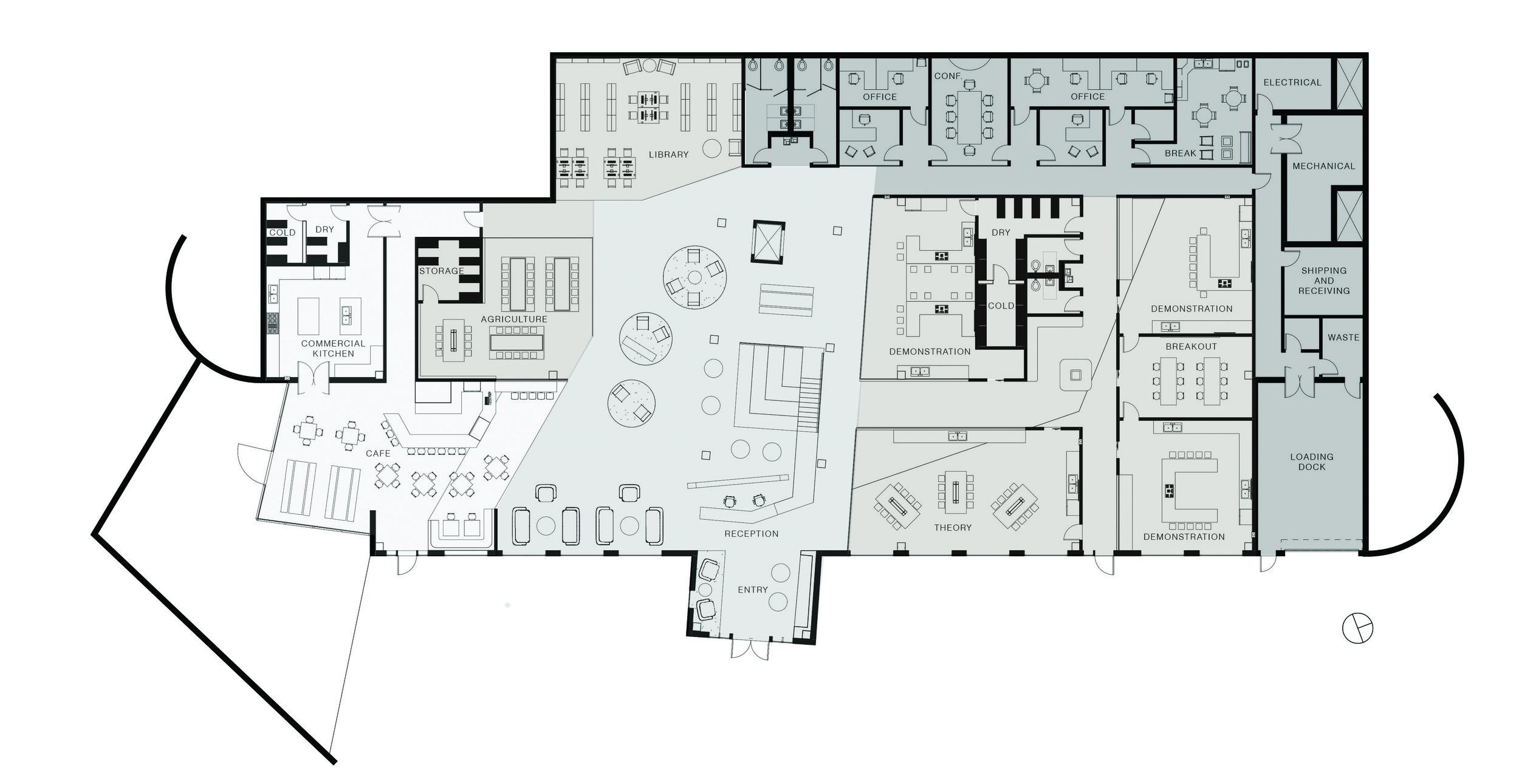 First floor plan, not to scale. ©2013 Caroline Ingalls