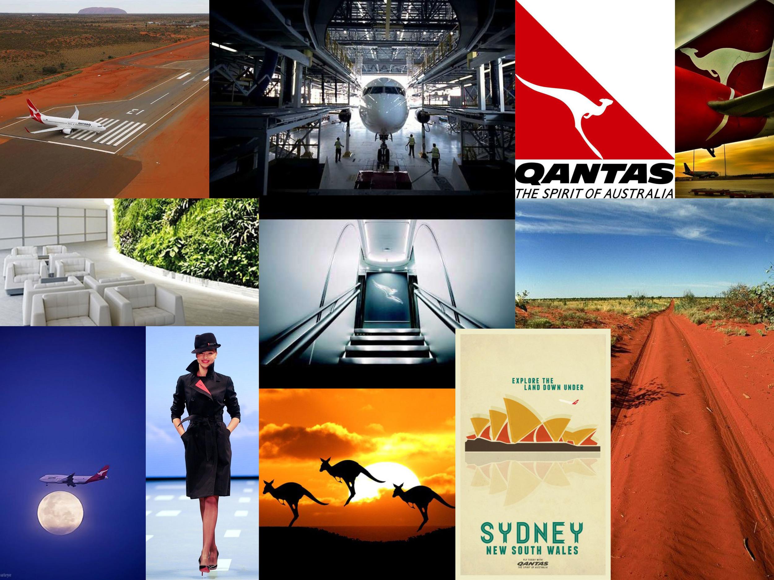 Qantas Airways mood board.