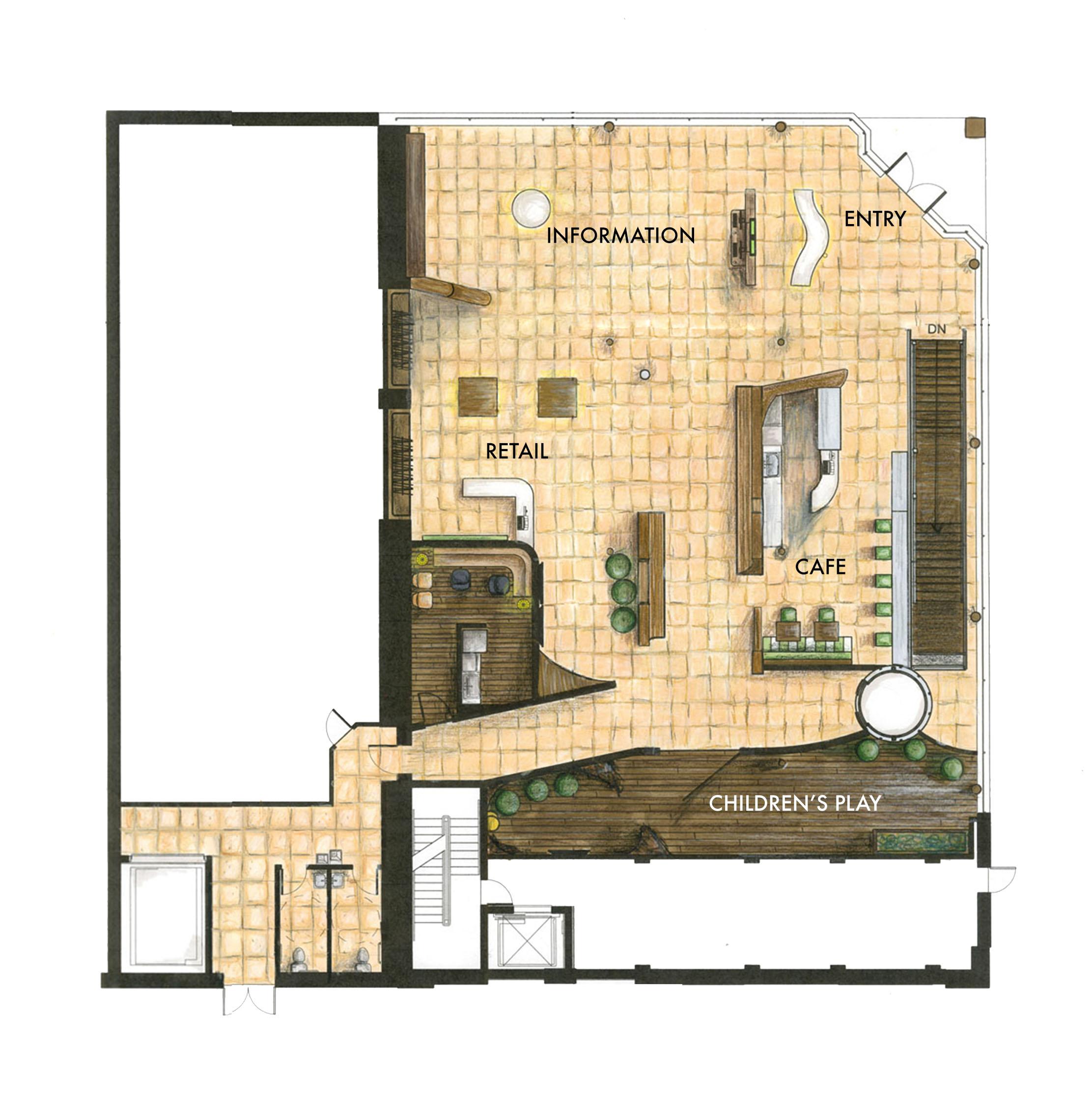First floor furniture plan. ©2011 Caroline Ingalls.