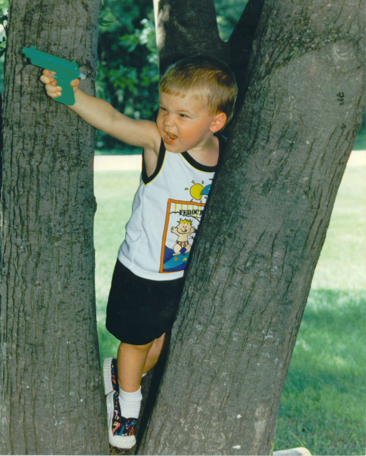 Young JD and his squirt gun