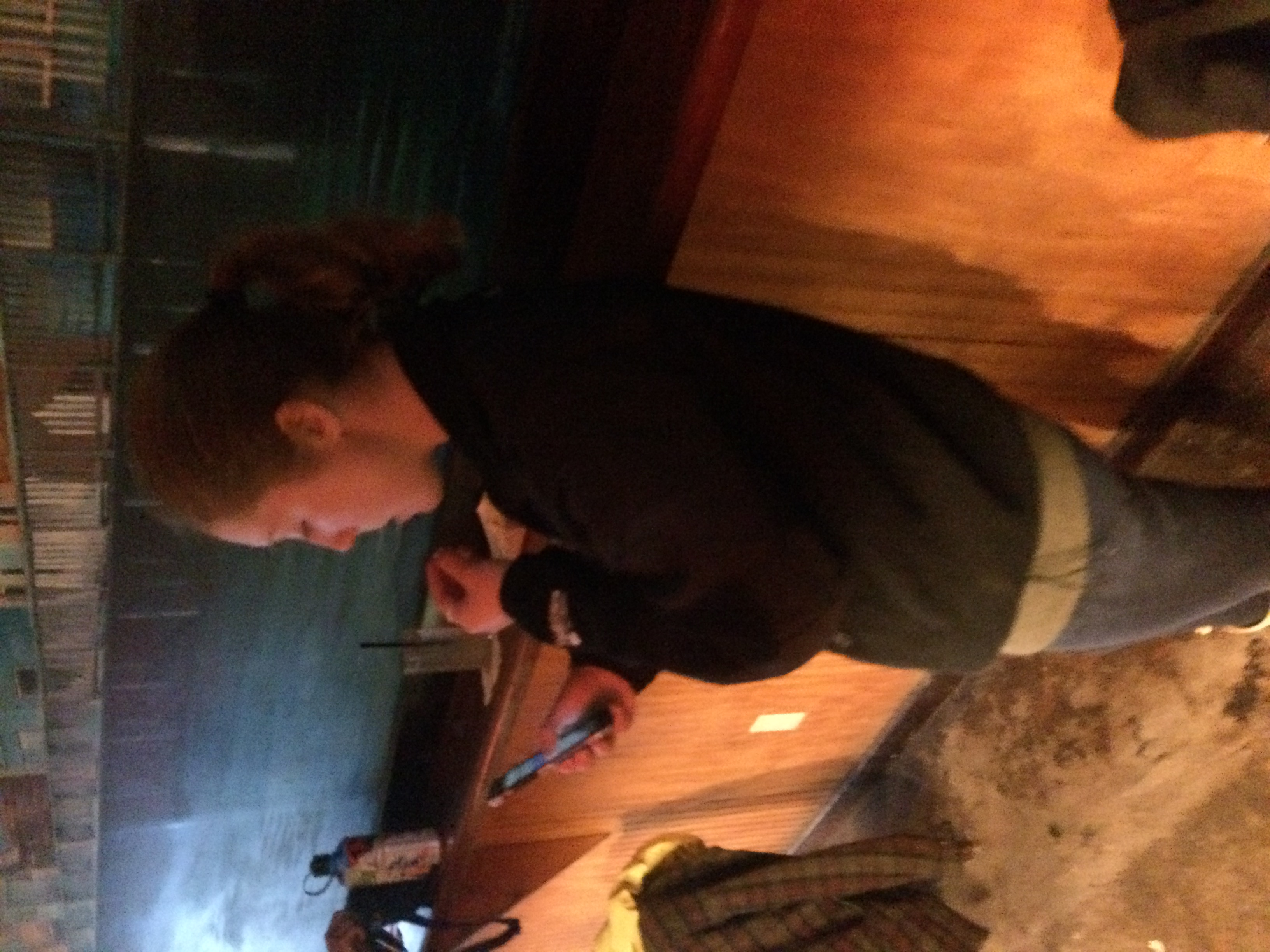 This is Tara on her phone. We tried getting a picture of her not on her phone, but we are pretty sure one does notexist.