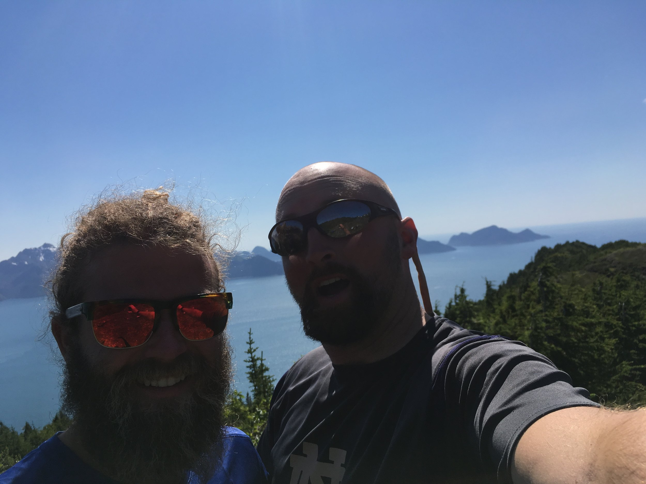 JD and Danny enjoying a day off with a beautiful hike.