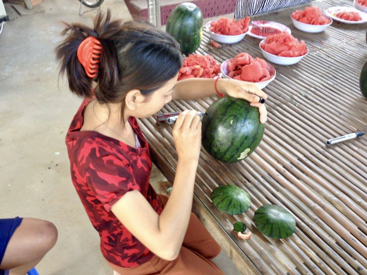 Carving Watermelons