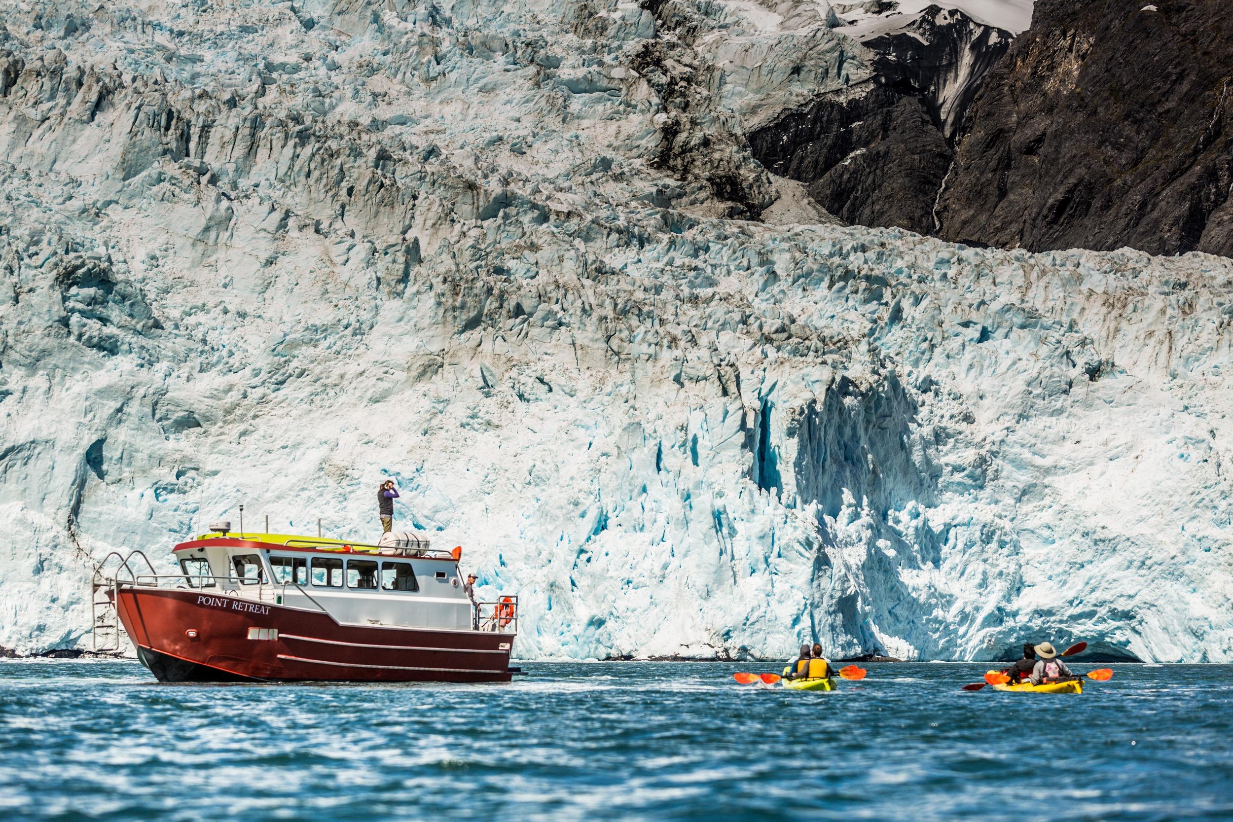 Grand Day Wildlife Cruise & Glacier Kayak Tour - 7:30 am - 4:30 pm, ages 8+5/15/19 - 9/2/195 hr Wildlife Cruise3 hr Glacier Kayaking Picnic LunchHighlightsKenai Fjords NP, Glaciers, Marine Mammals, Sea Birds