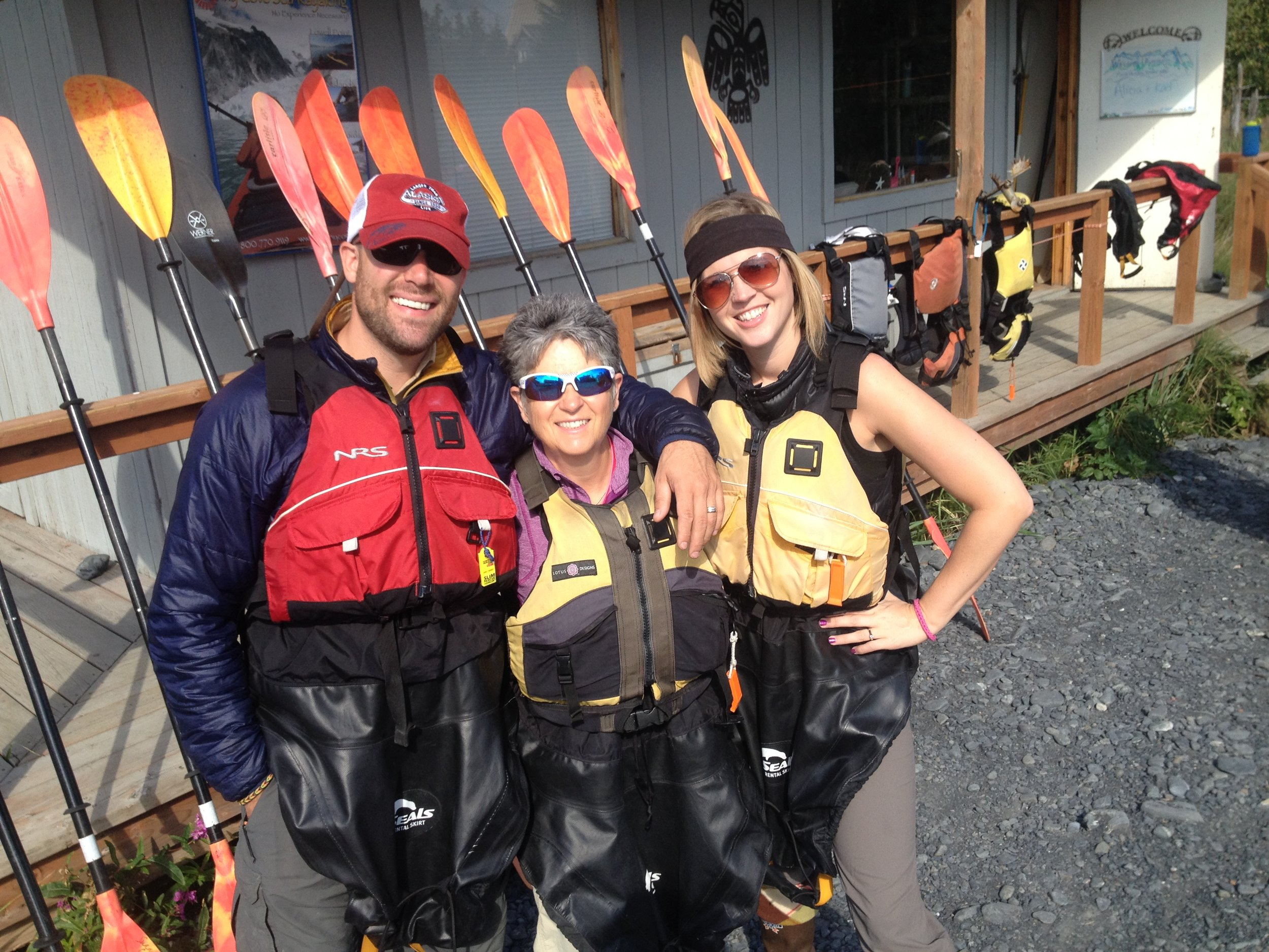 We provide each guest with a Personal Flotation Device, recreational spray skirt and waterproof boots. Splash wear is also available if needed. We'll never uncharge for using our gear!