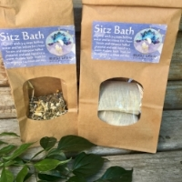 SITZ BATH - A soothing combination of herbs and sea salt that helps sooth and heal the mother postpartum. Is a loving way to breath, honor the new mother and welcome the transition.Ingredients - Witch hazel, plantain, calendula, marshmallow root, yarrow, lavender and sea salt.