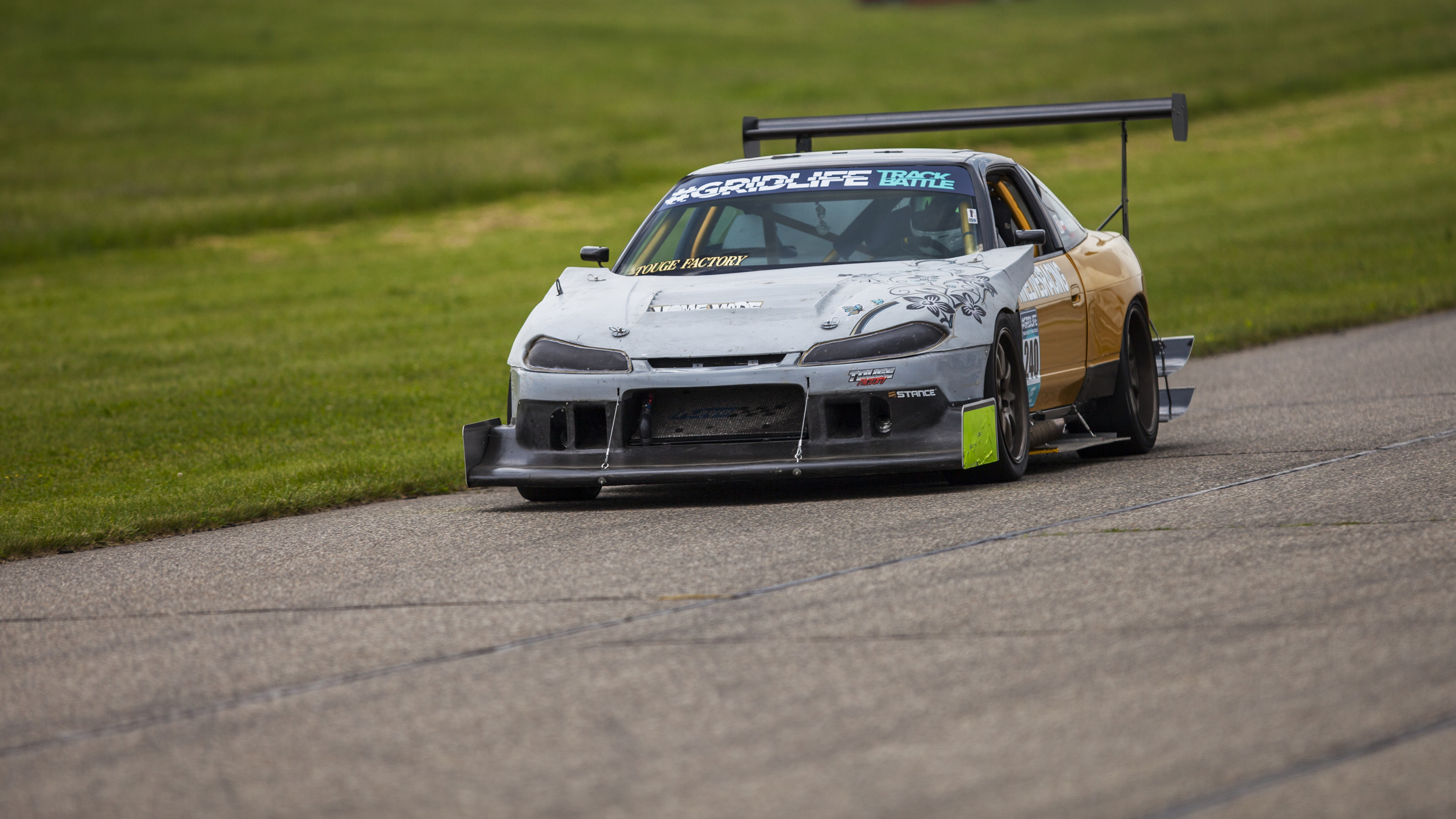 Ninelives Racing 's S13 will be back attacking time. Last year they seem to run into problem after problem with fueling this thing but last event of the season they seem to be hammered out. Look forward to seeing what this high downforce car can do.
