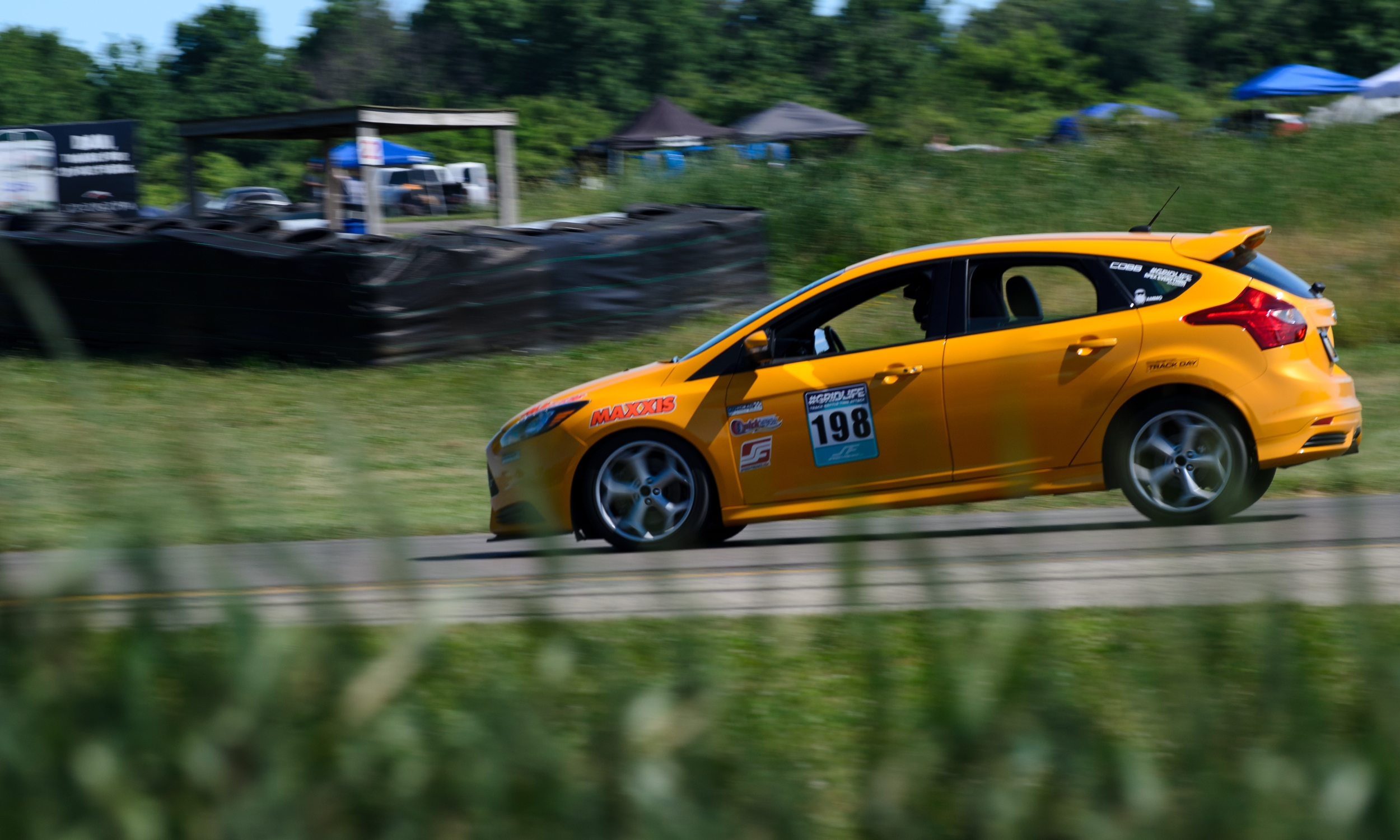Just look at that nose dive, Not sure how much longer the rear wheels care going to be on the ground so we will round up the top 5 from HPDE with Matthew's Focus ST putting down a time of 1:50.110