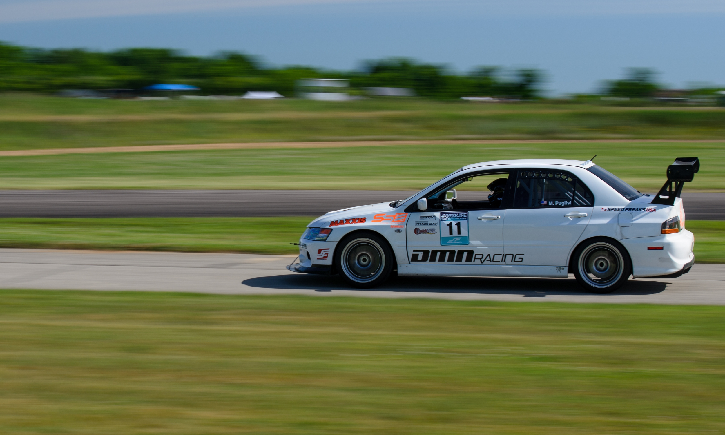 DMN Racing's Evo piloted by Michael, took Second in Trackt Modified overall with a blazing time of 1:38.420.