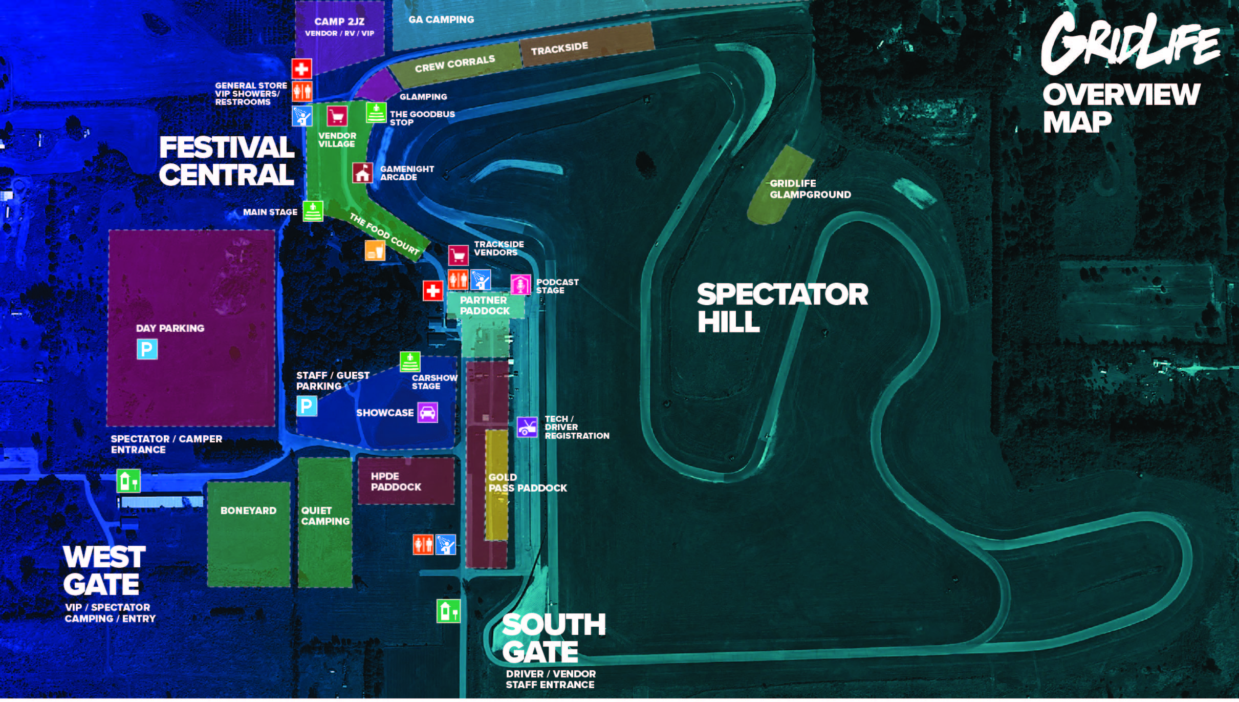FESTIVAL OVERVIEW MAP